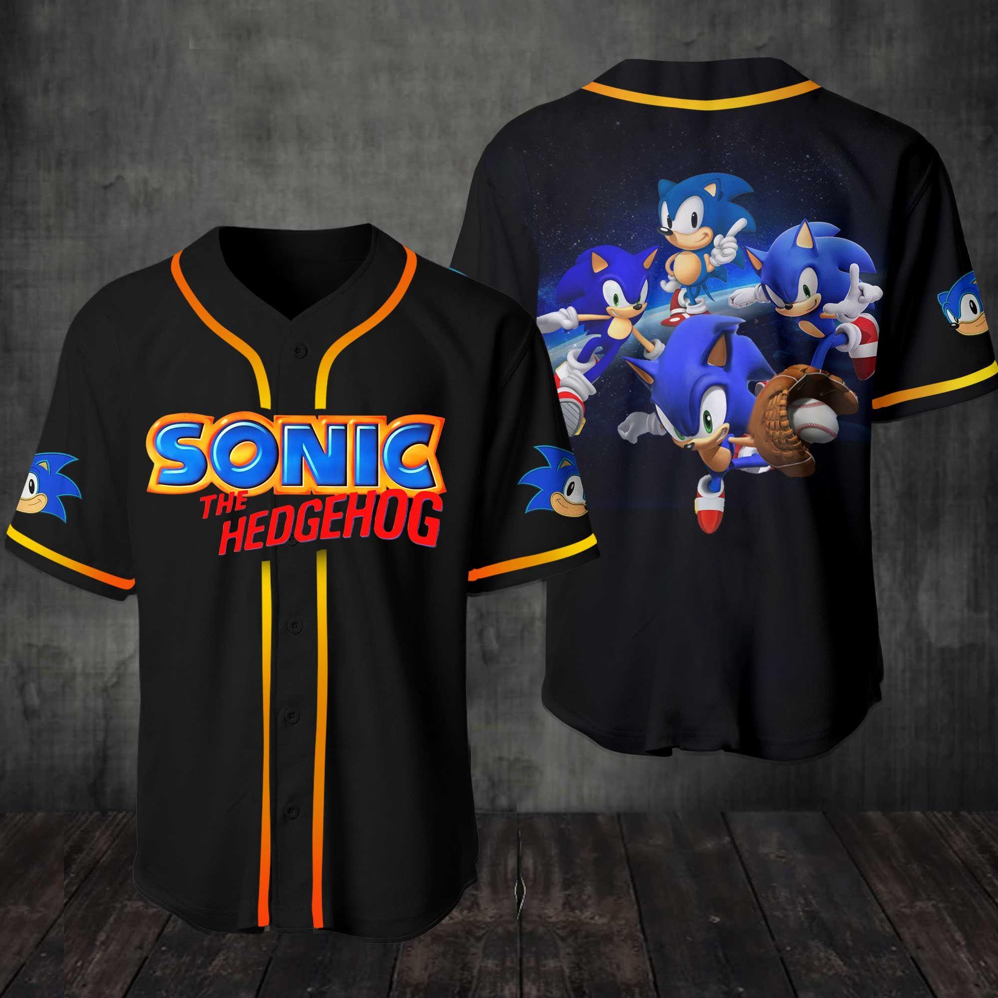 Sonic The Hedgehog Baseball Jersey Shirt