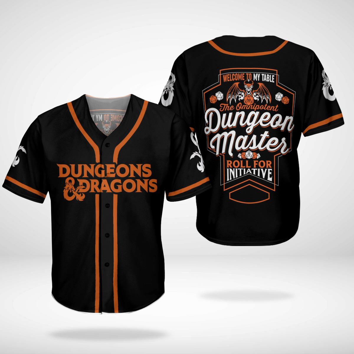 Dungeons and Dragons Master Baseball Jersey Shirt