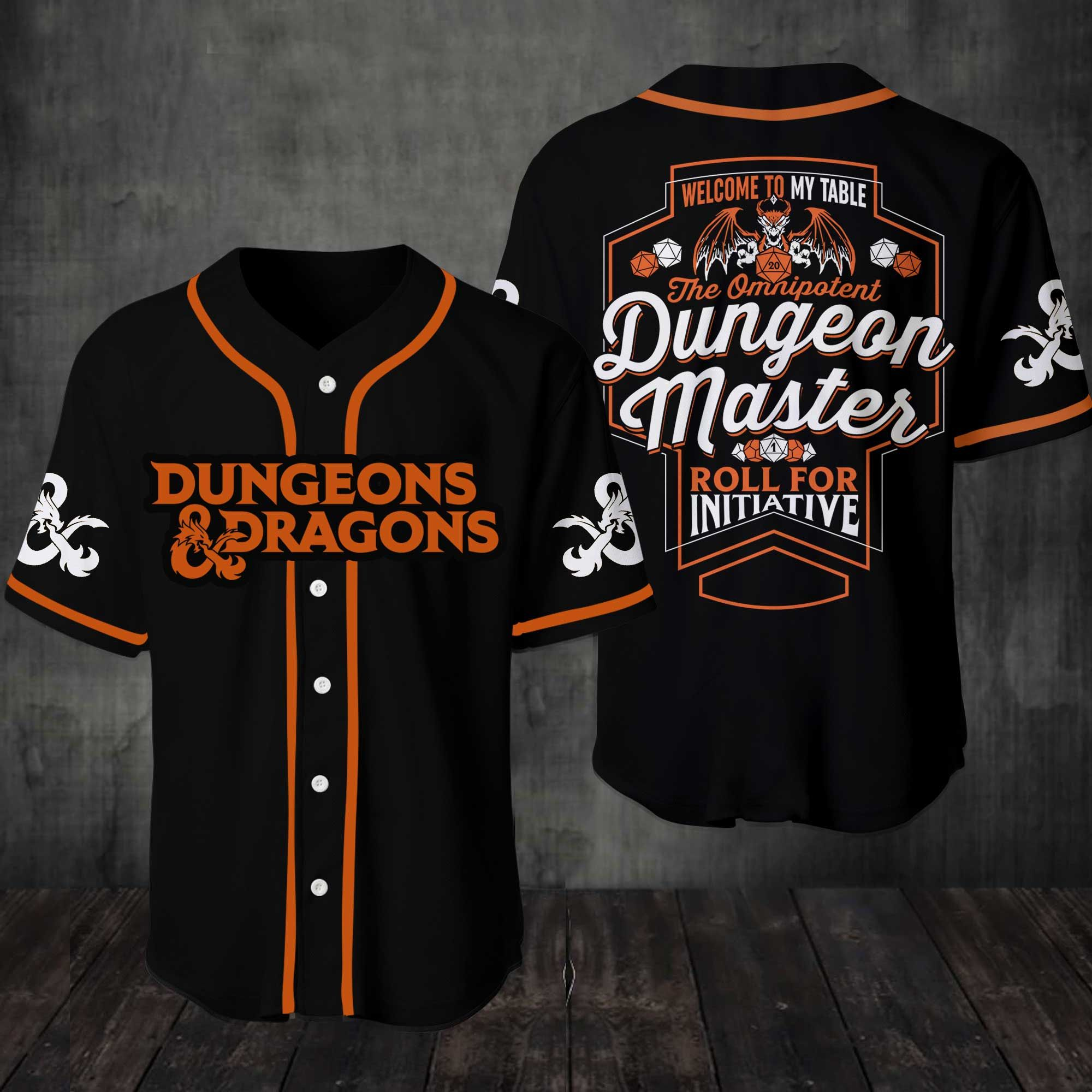 Dungeons And Dragons Welcome To My Table Baseball Jersey Shirt