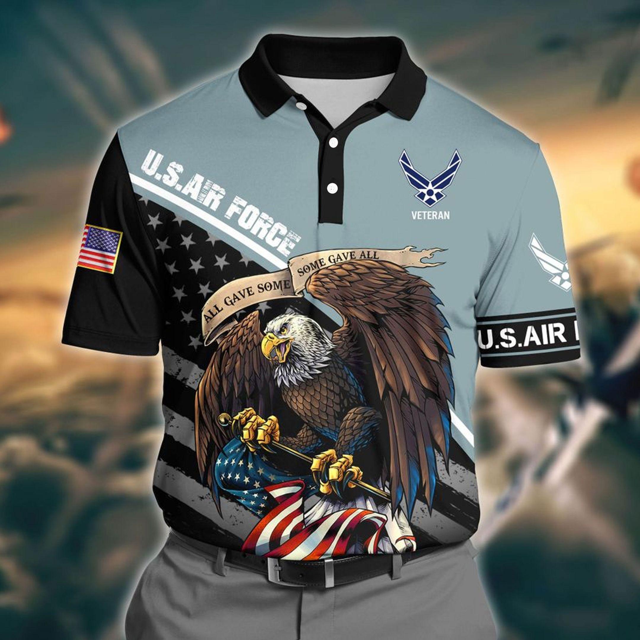 US Air Force 3D Polo shirt