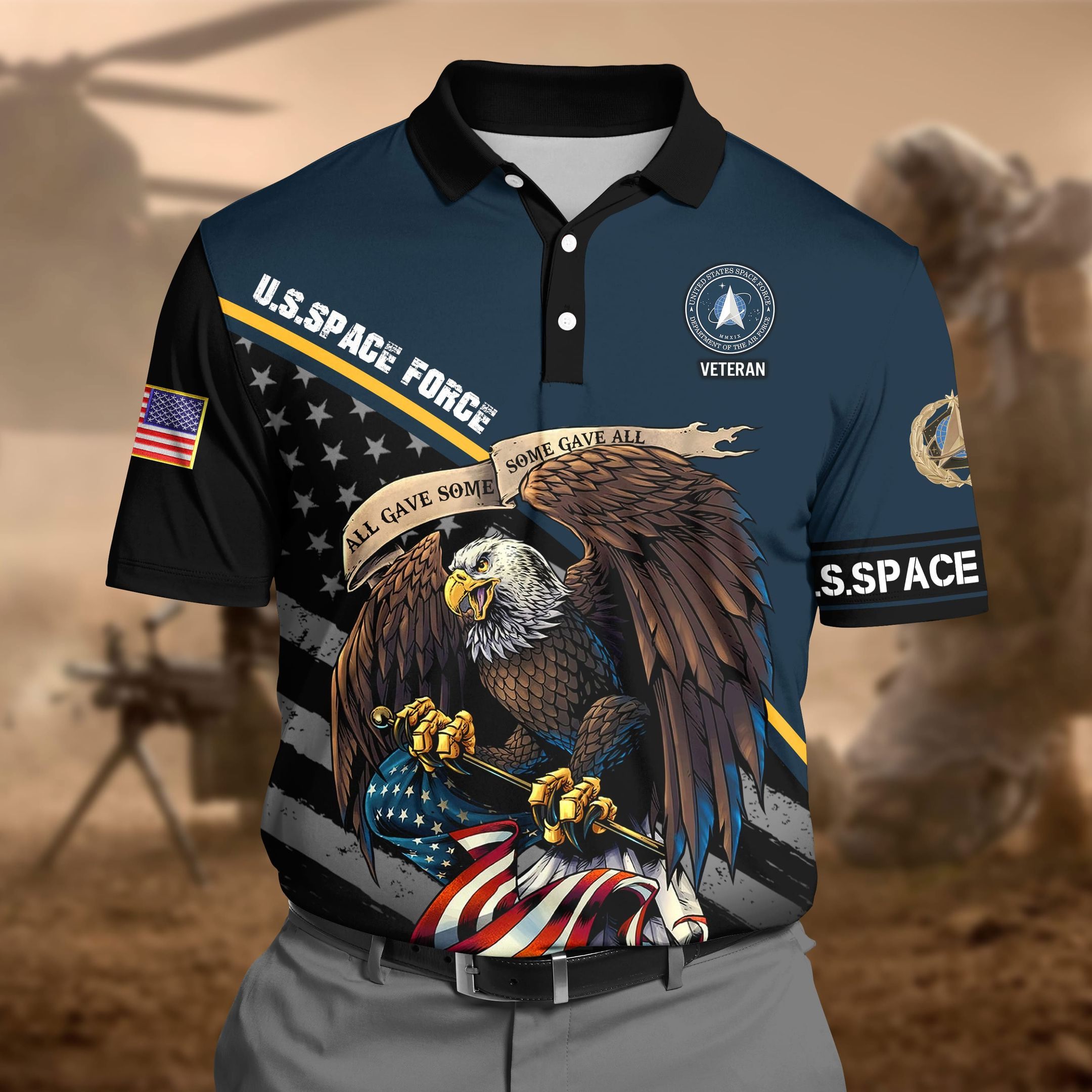 Space Force 3D Polo shirt
