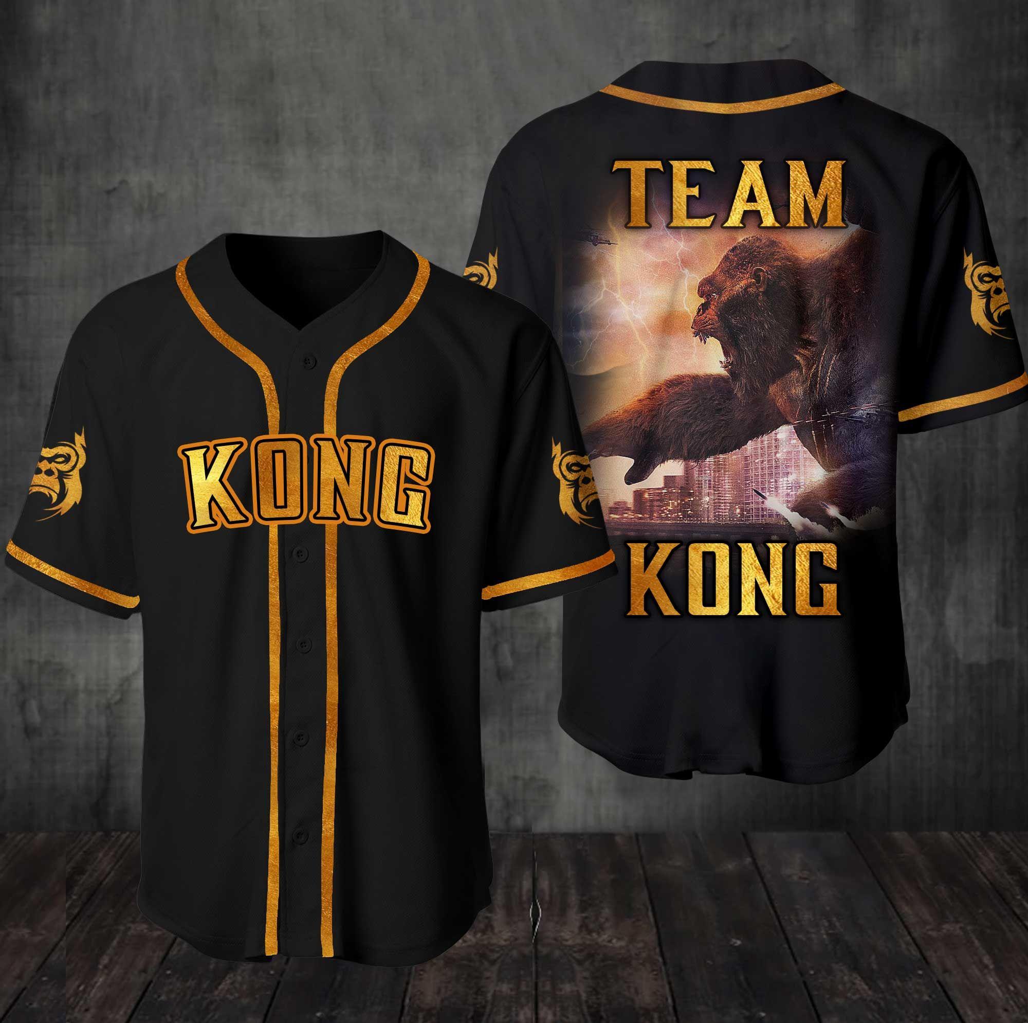 Team Kong Baseball Jersey Shirt