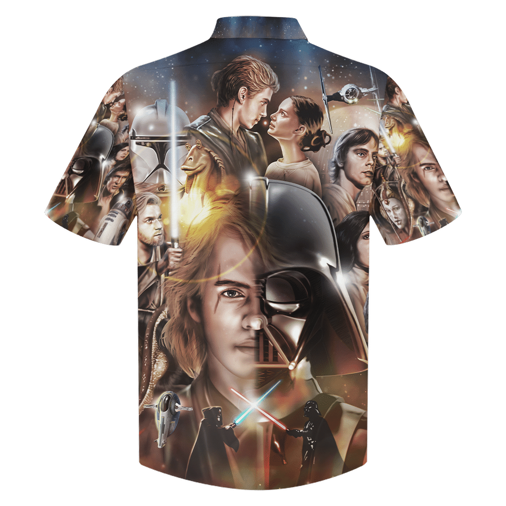 Star Wars Darth Vader and Clone Trooper Armor Hawaiian Shirt