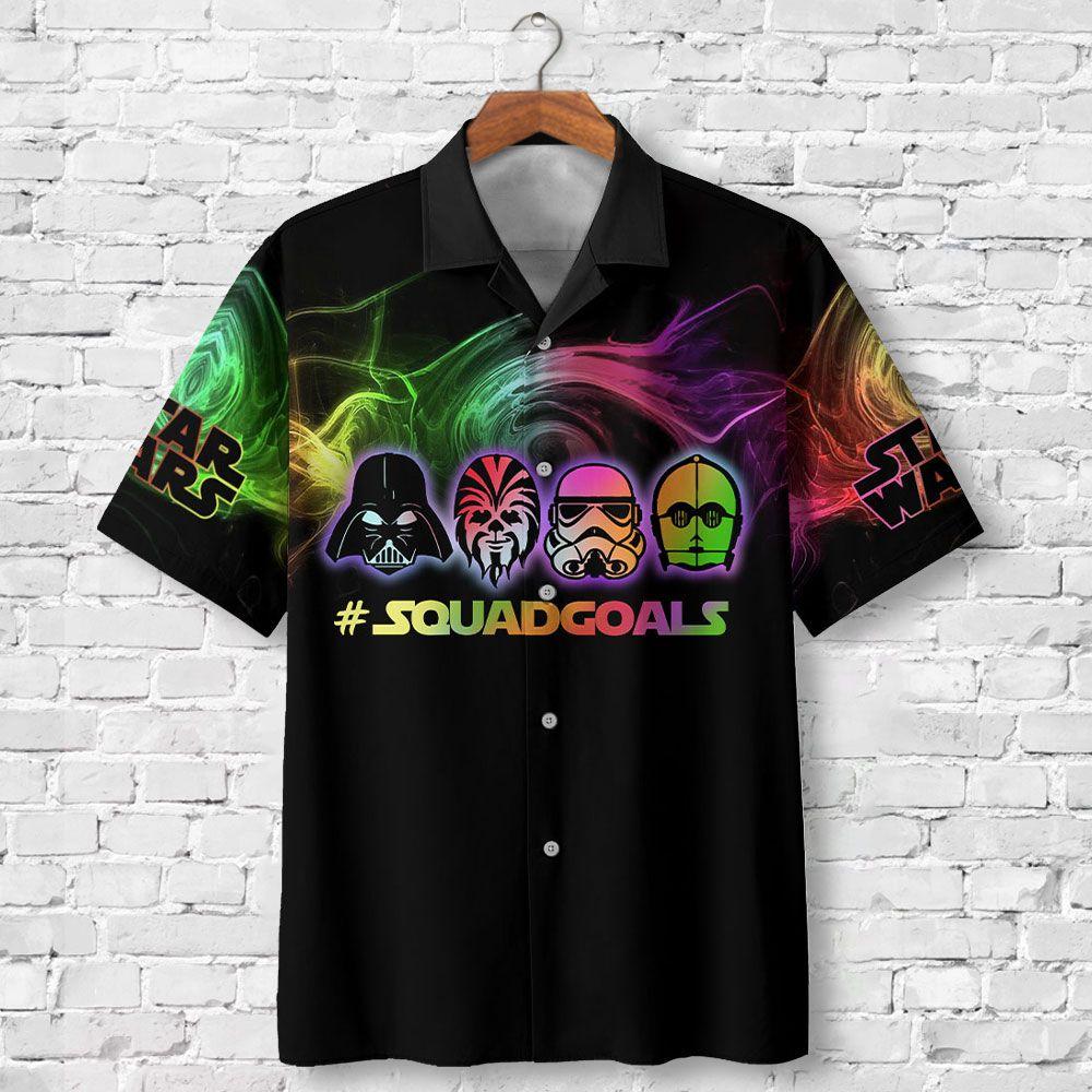 Star Wars Darth Vader Squad Goals Premium Hawaiian Shirt