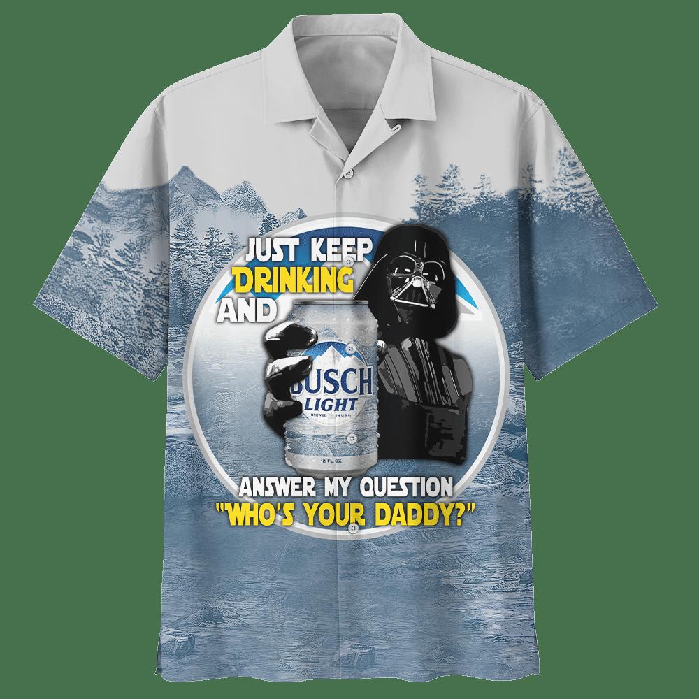 SW Darth Vader With Busch Light Beer Premium Hawaiian Shirt