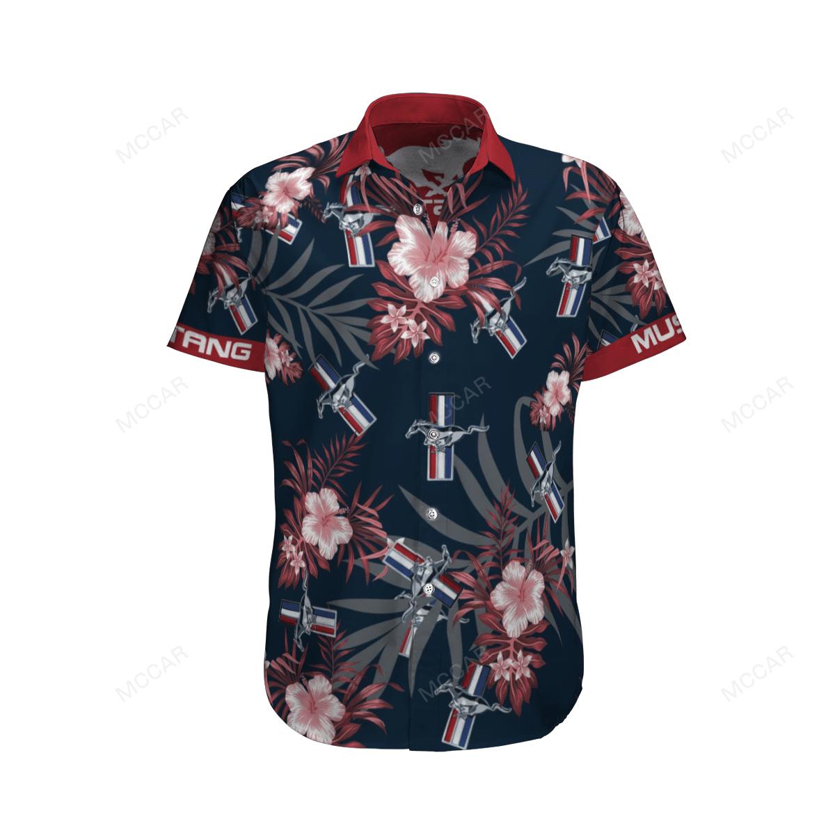 Mustang Floral Hawaiian Shirt