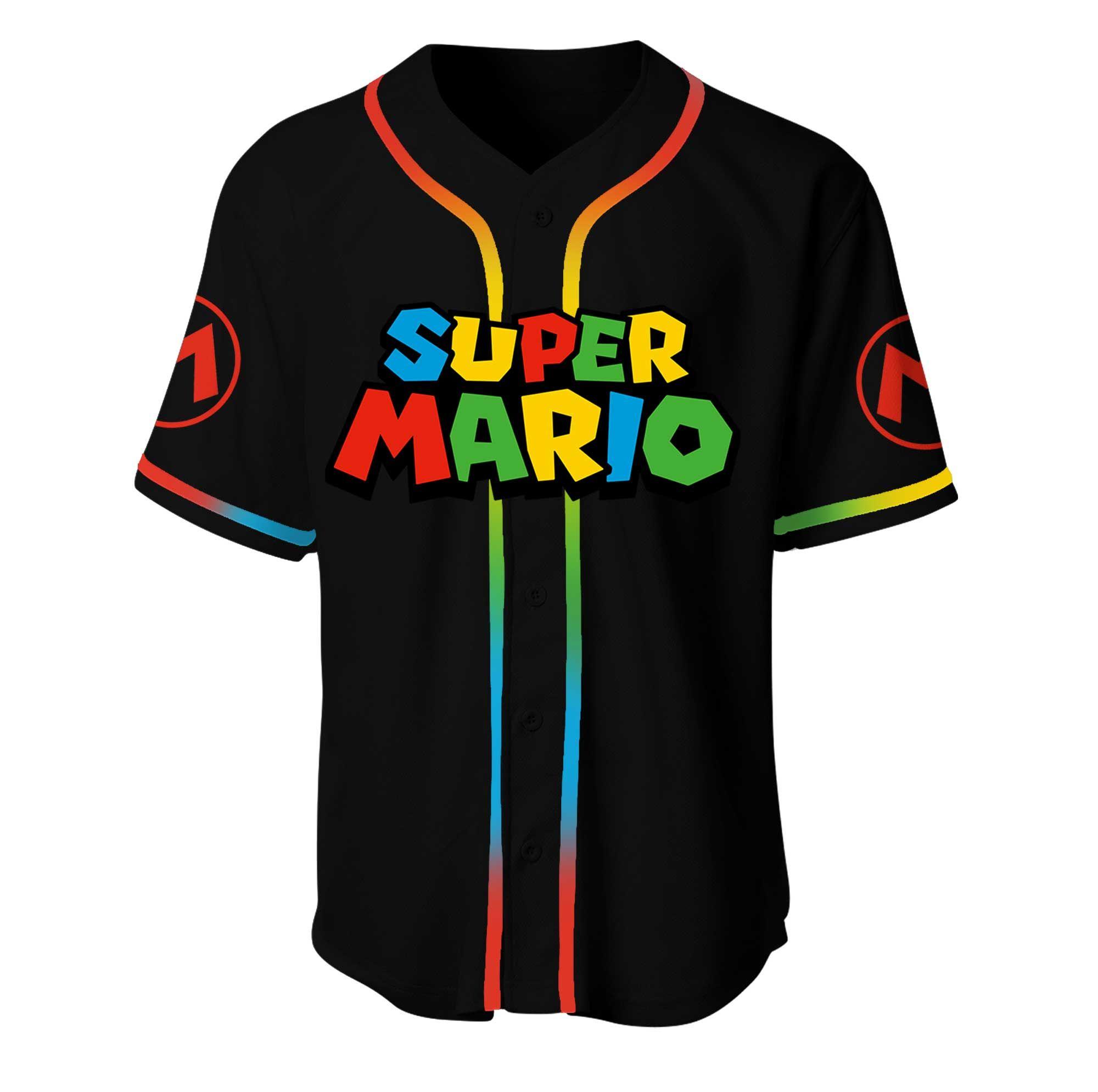 Super Mario I Dont Get Older I Level Up Baseball Jersey Shirt