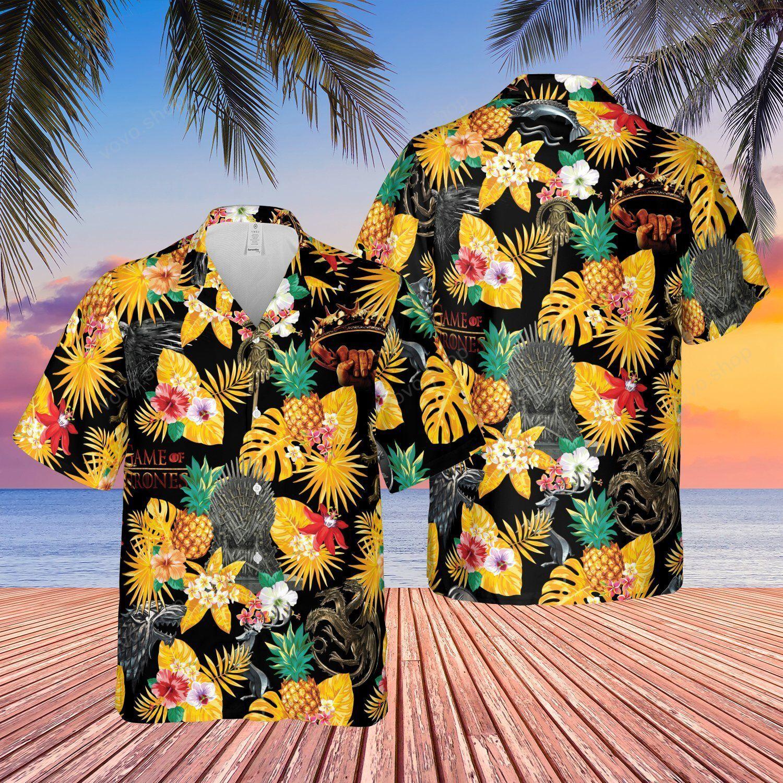Game of Thrones Tropical Flower Hawaiian Shirt and Summer Shorts