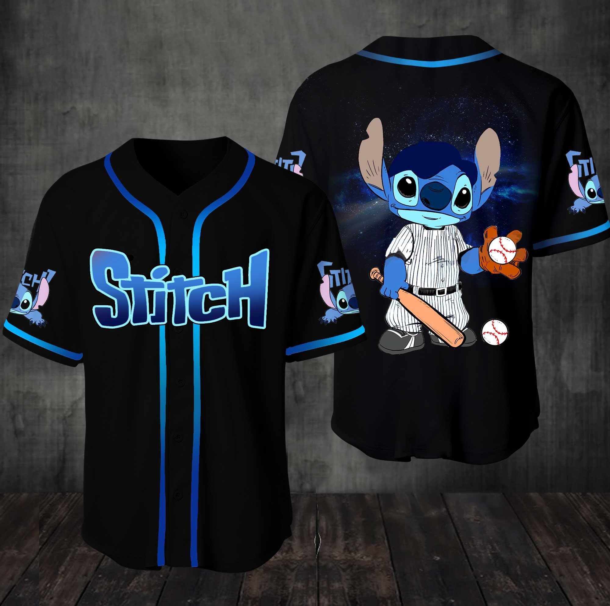 Stitch Lilo Baseball Jersey Shirt
