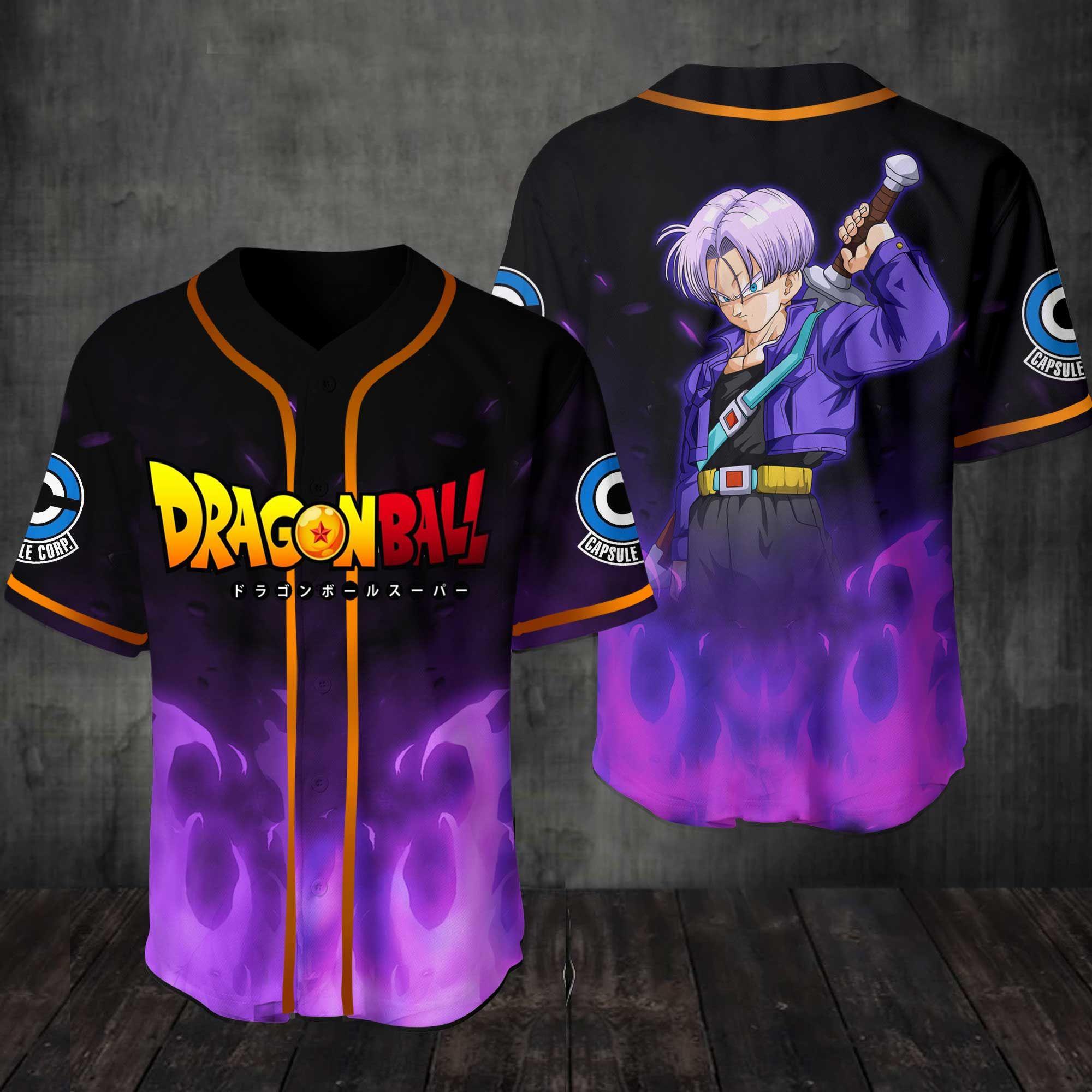 Dragon Ball Trunks Baseball Jersey Shirt