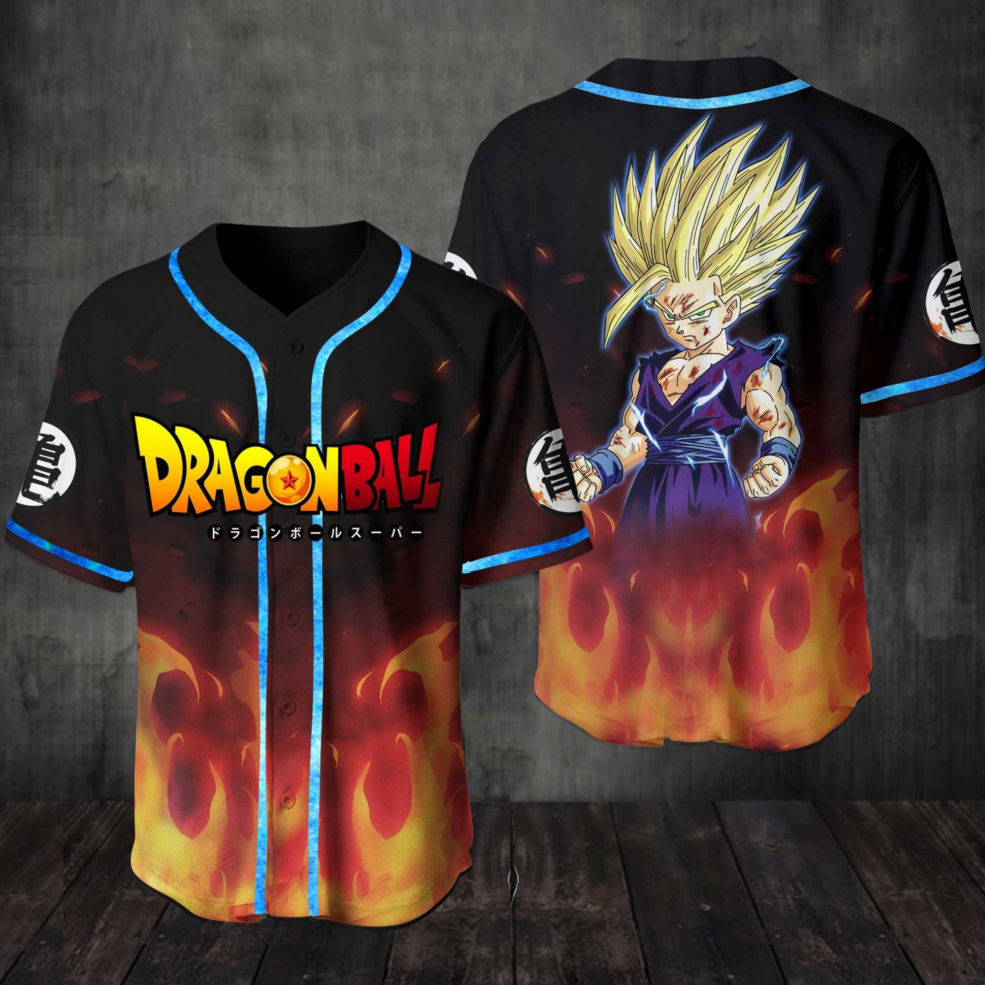 Dragon Ball Greatest Heroes Baseball Jersey Shirt