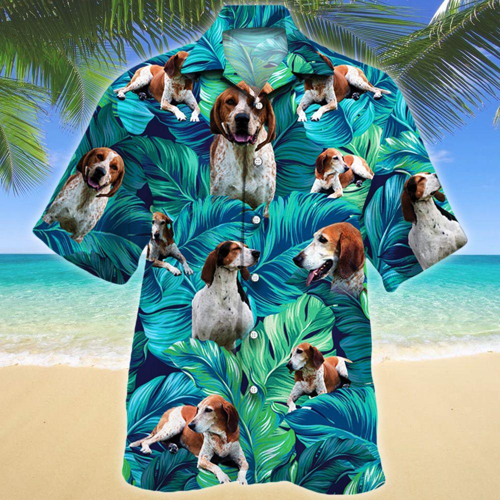 American English Coonhound Dog Lovers Hawaii Shirt