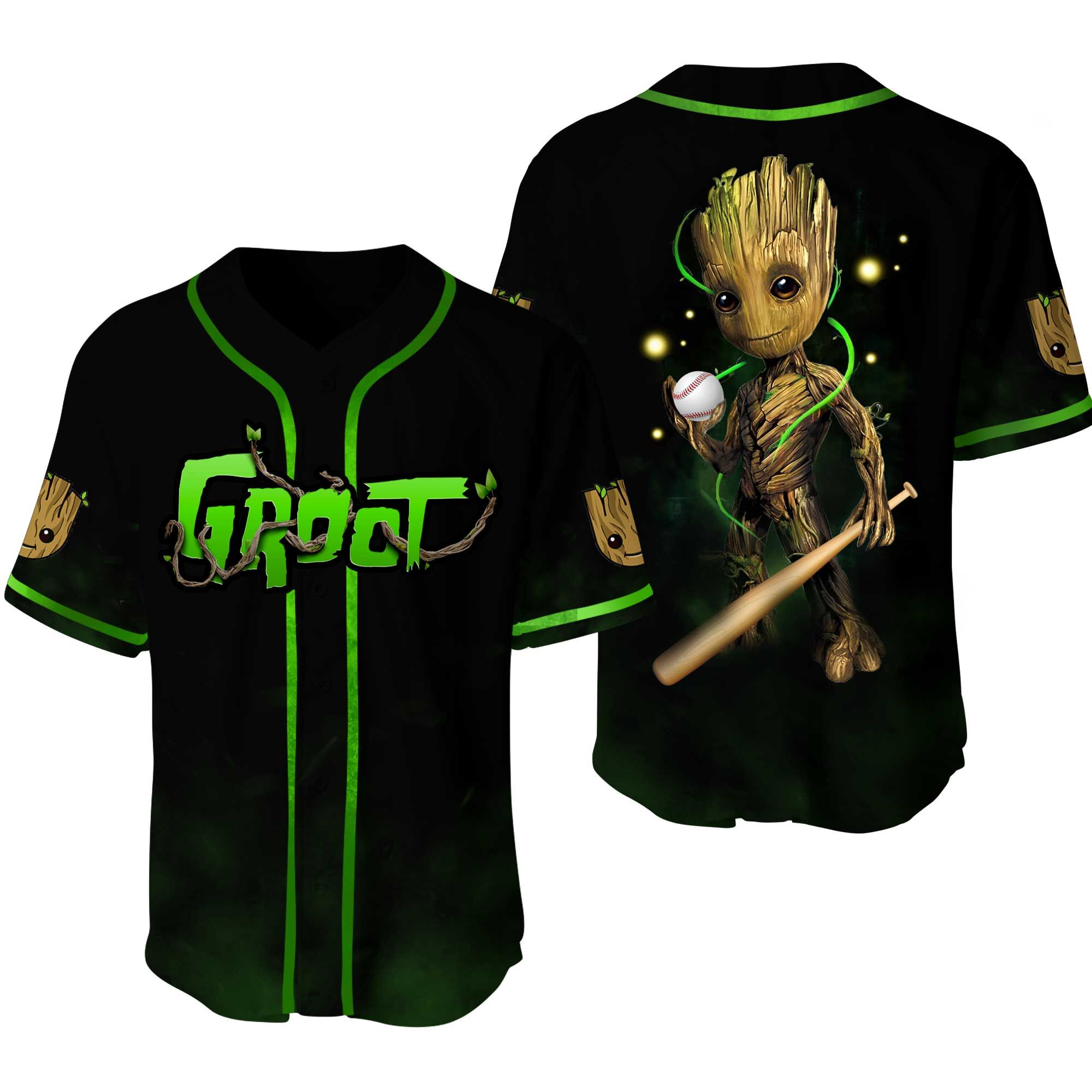 Groot Marvel Baseball Jersey Shirt