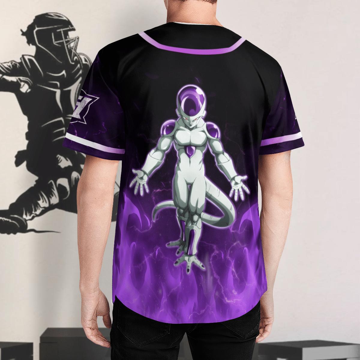 Dragon Ball Frieza Baseball Jersey Shirt