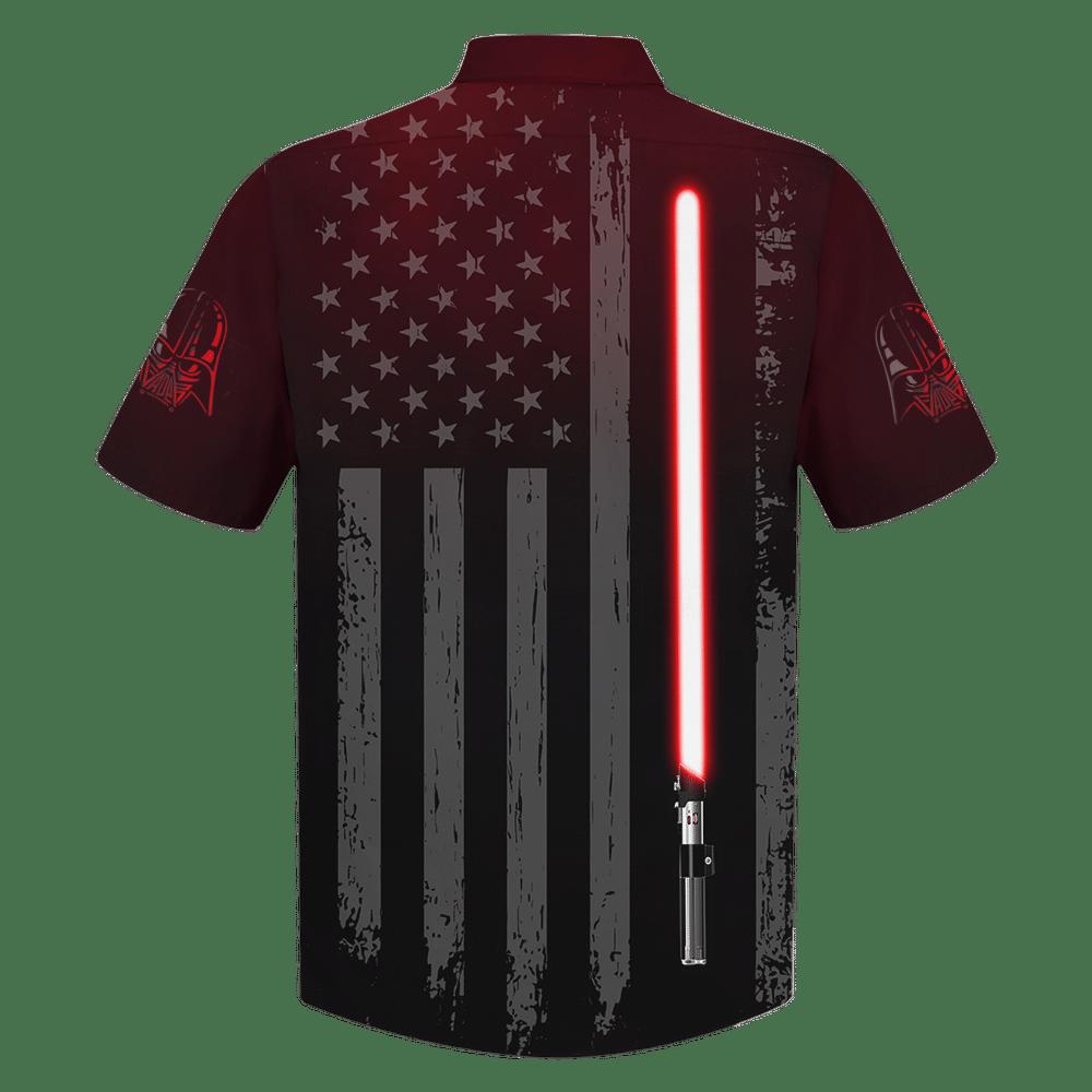 Star Wars Darth Vader lightsaber American flag Hawaiian Shirt