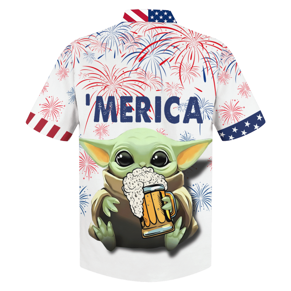 Star Wars Baby Yoda with beer Hawaiian Shirt