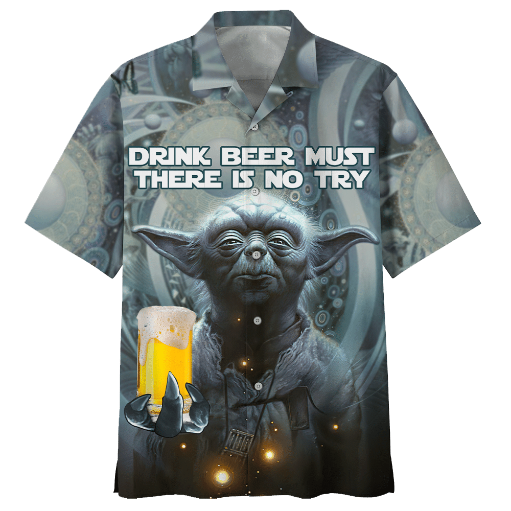 Star Wars Yoda drinking beer Hawaiian Shirt