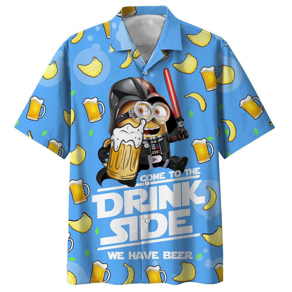 Minion Darth Vader with beer Star Wars Hawaiian Shirt