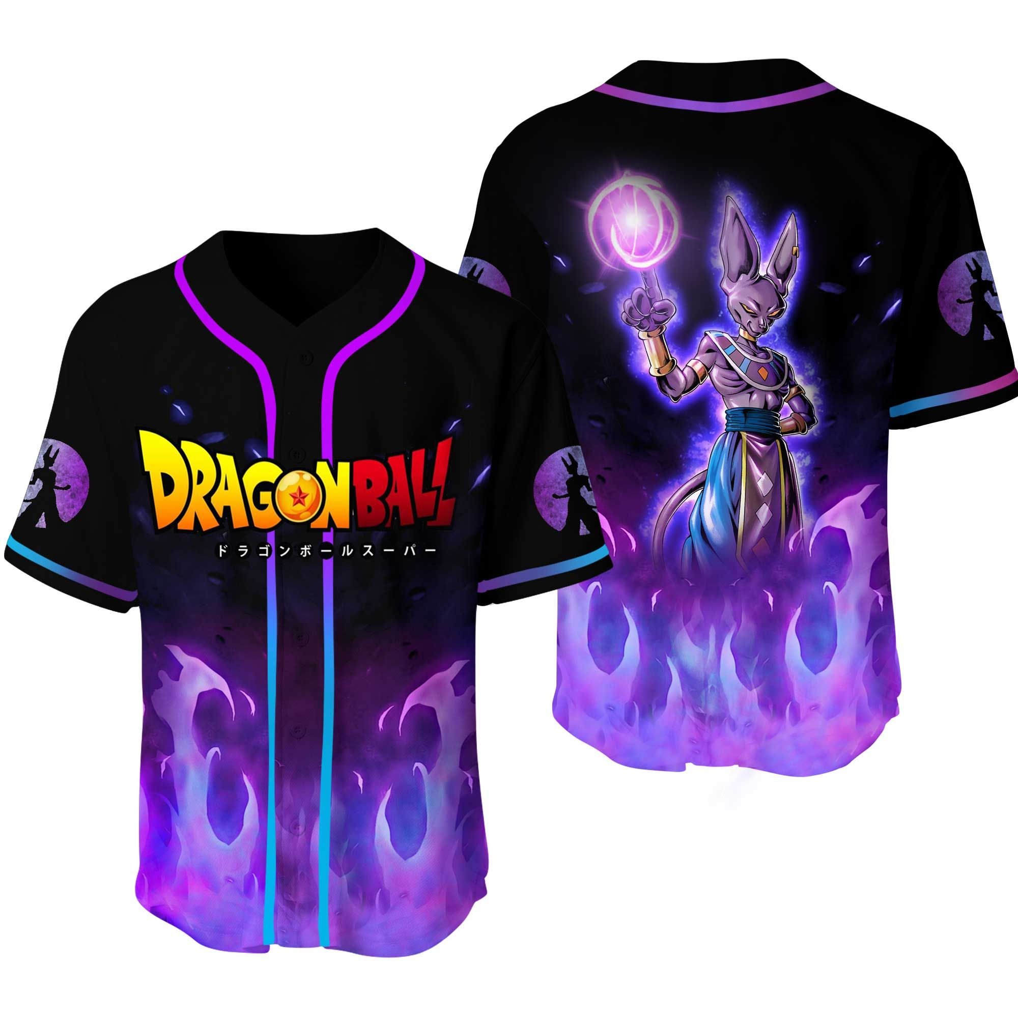 Dragon Ball Beerus Baseball Jersey Shirt