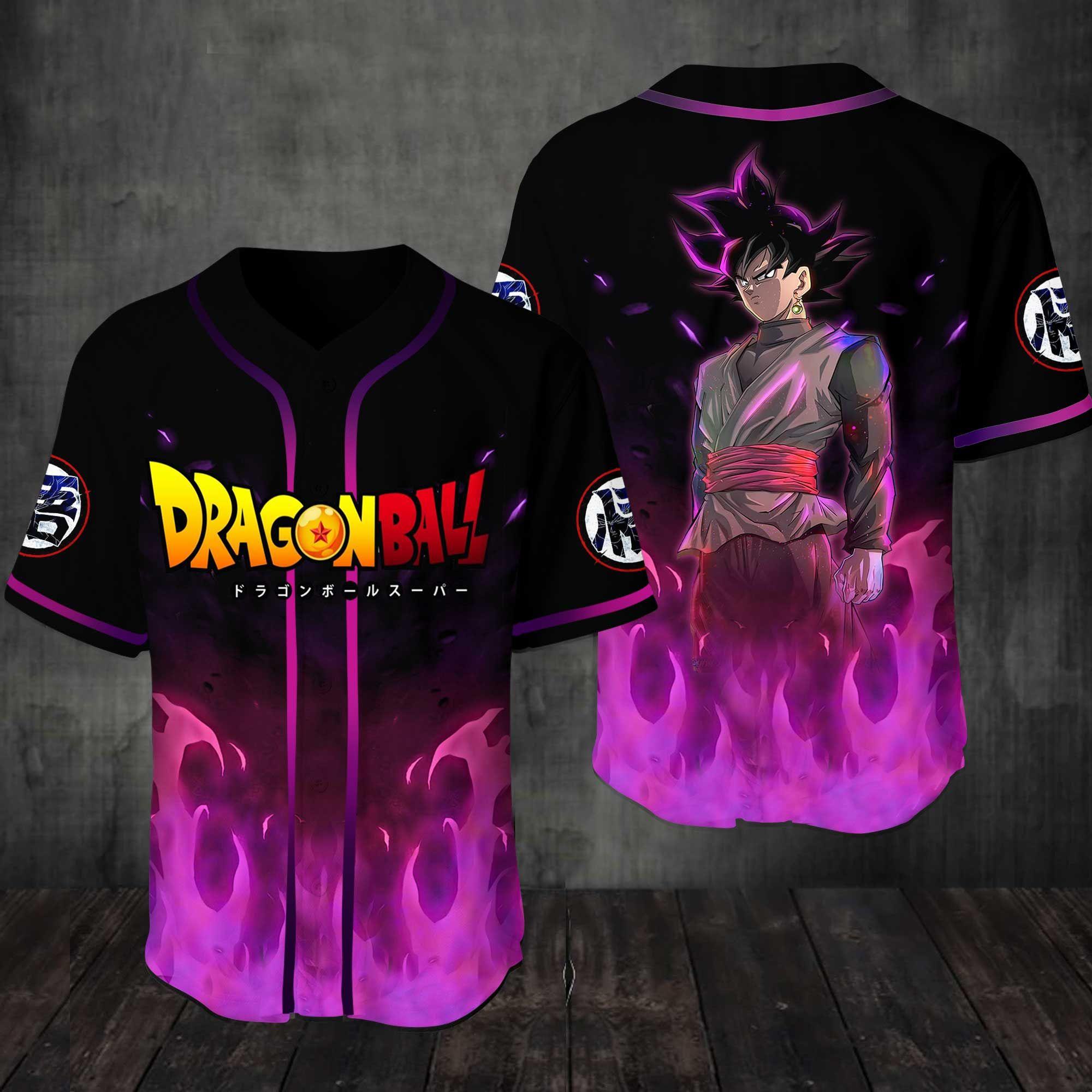 Dragon Ball Black Goku Baseball Jersey Shirt