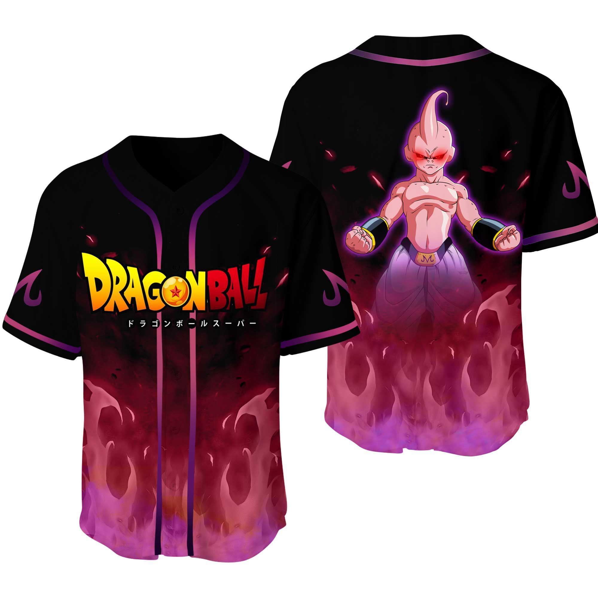 Dragon Ball Majin Boo Baseball Jersey Shirt