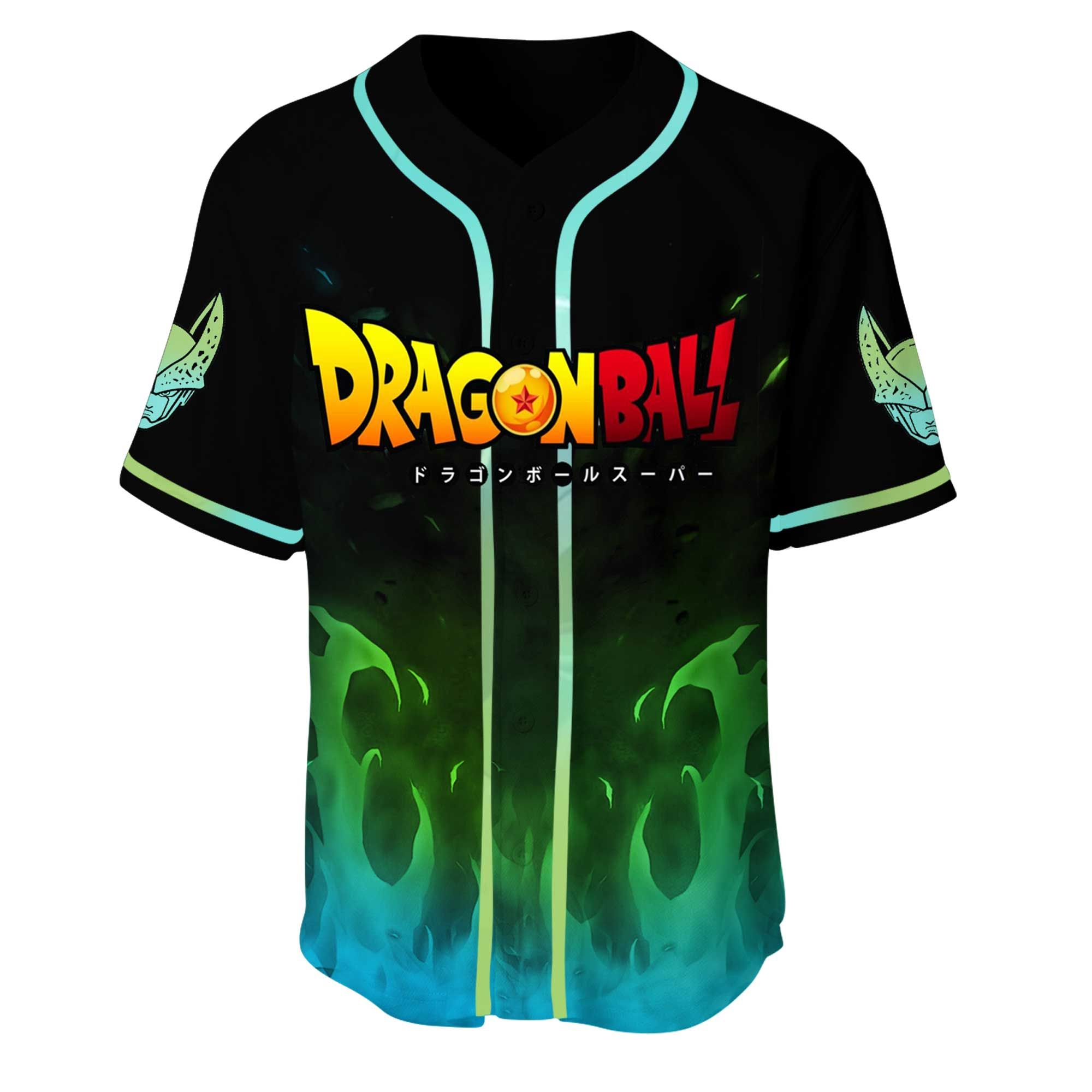 Dragon Ball Cell Baseball Jersey Shirt