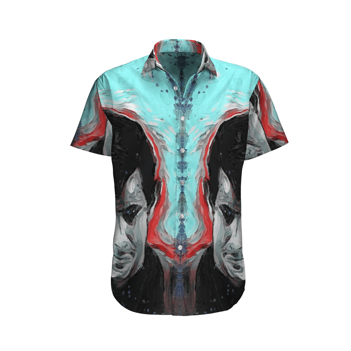 Psycho Norman Smile Hawaiian Shirt