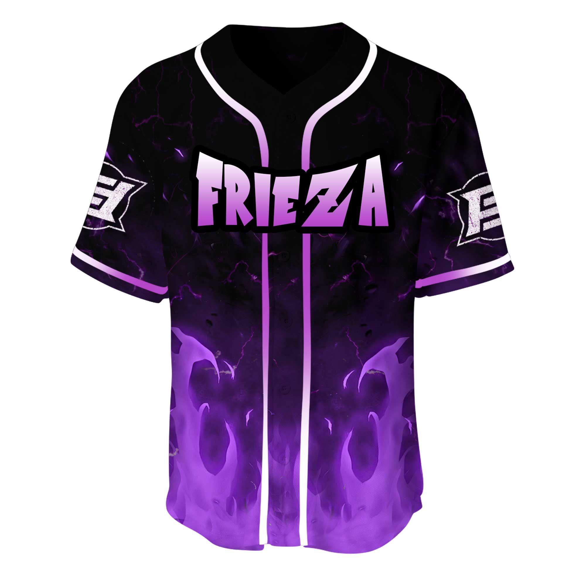 Dragon Ball Frieza 3D Baseball Jersey Shirt