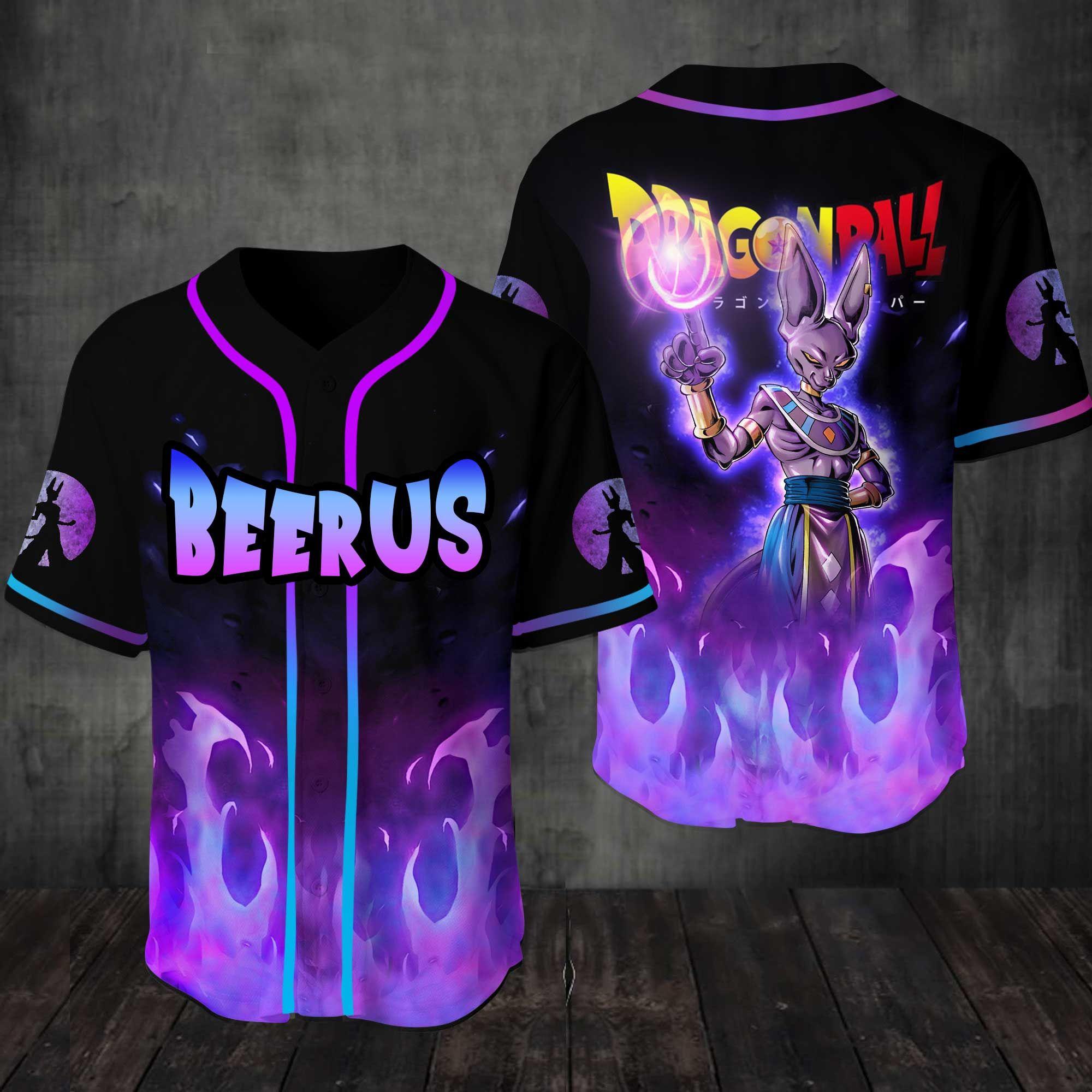 Dragon Ball Beerus 3D Baseball Jersey Shirt