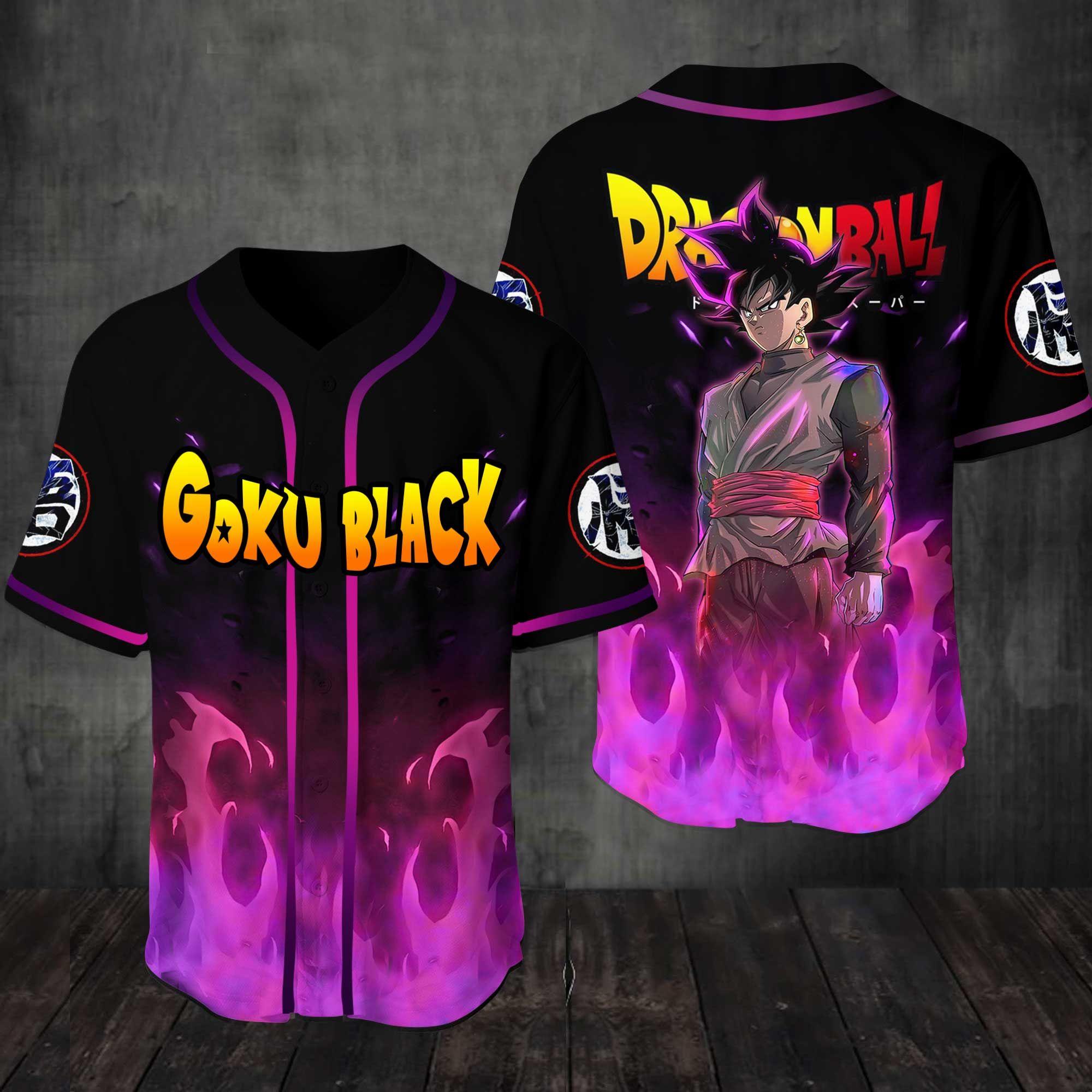 Dragon Ball Black Goku 3D Baseball Jersey Shirt