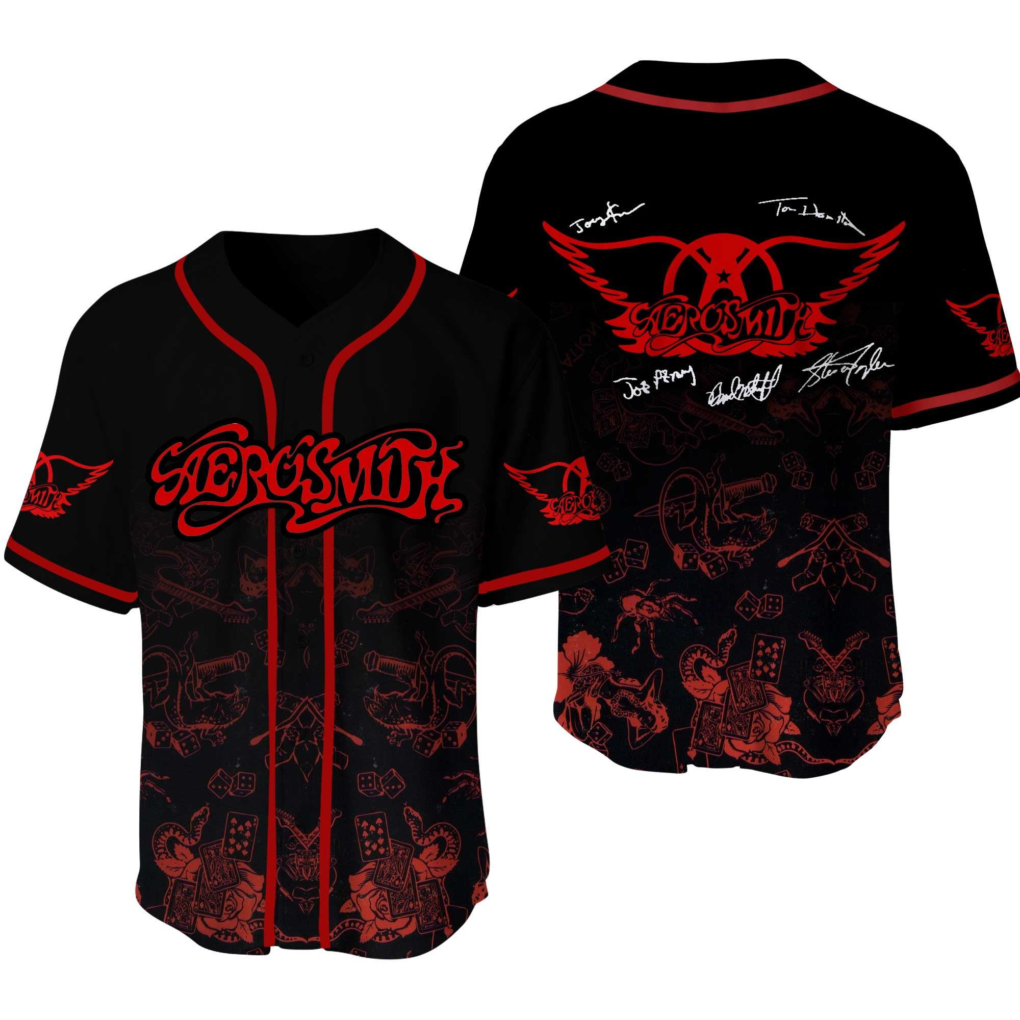 Aerosmith Baseball Jersey Shirt
