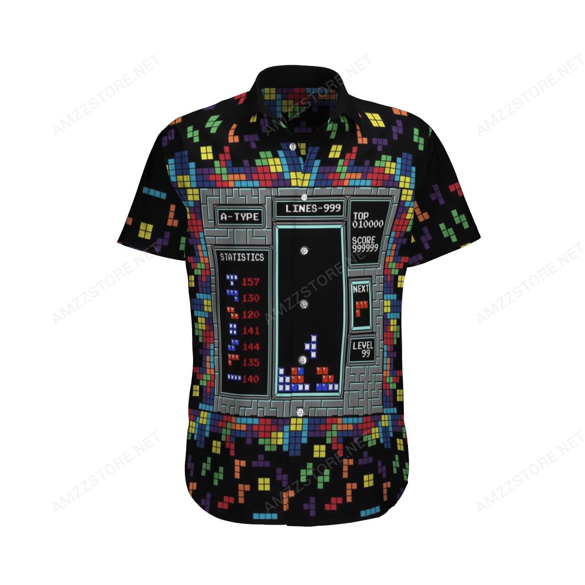 Tetris Arcade game Hawaiian Shirt