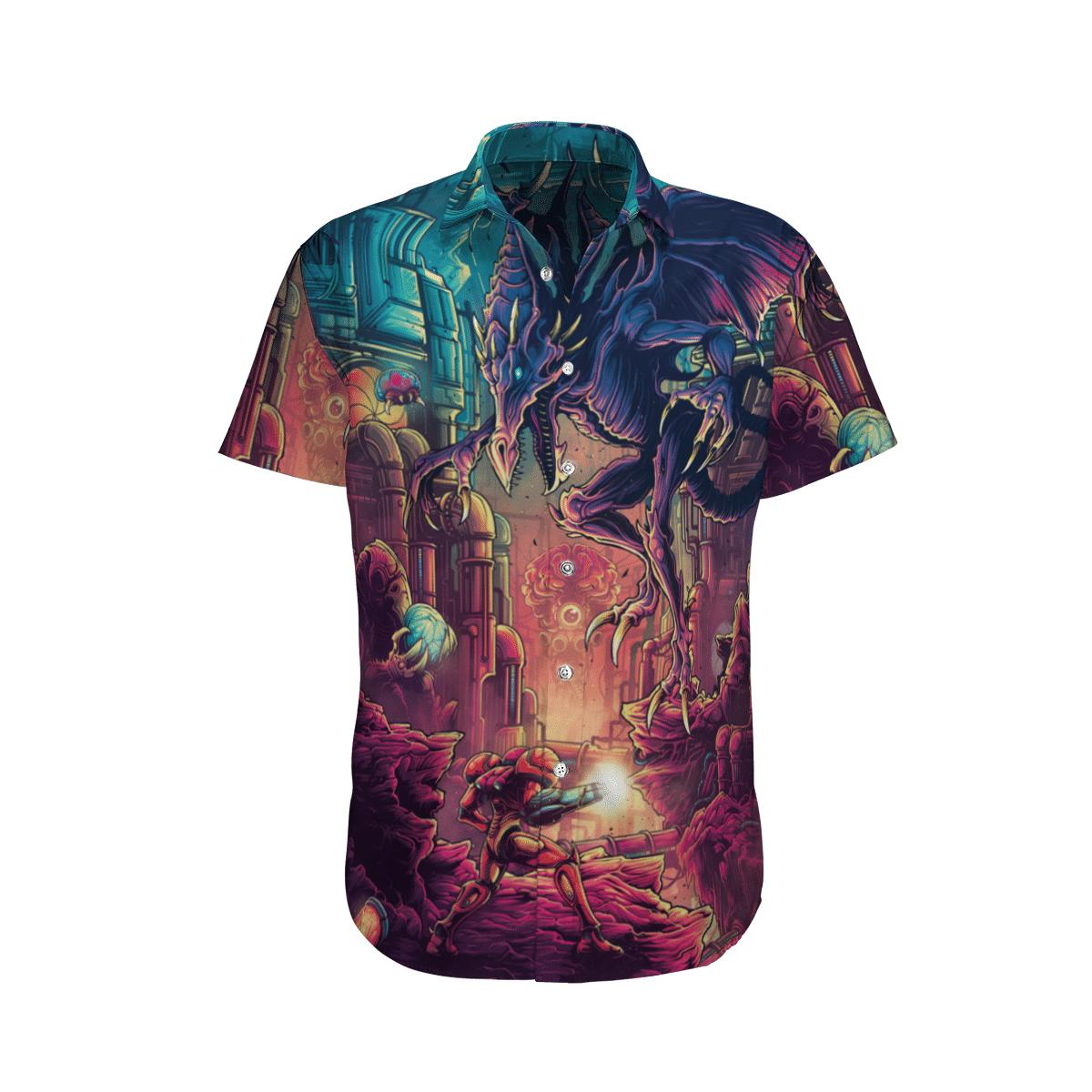 Metroid Prime in battle Hawaiian Shirt