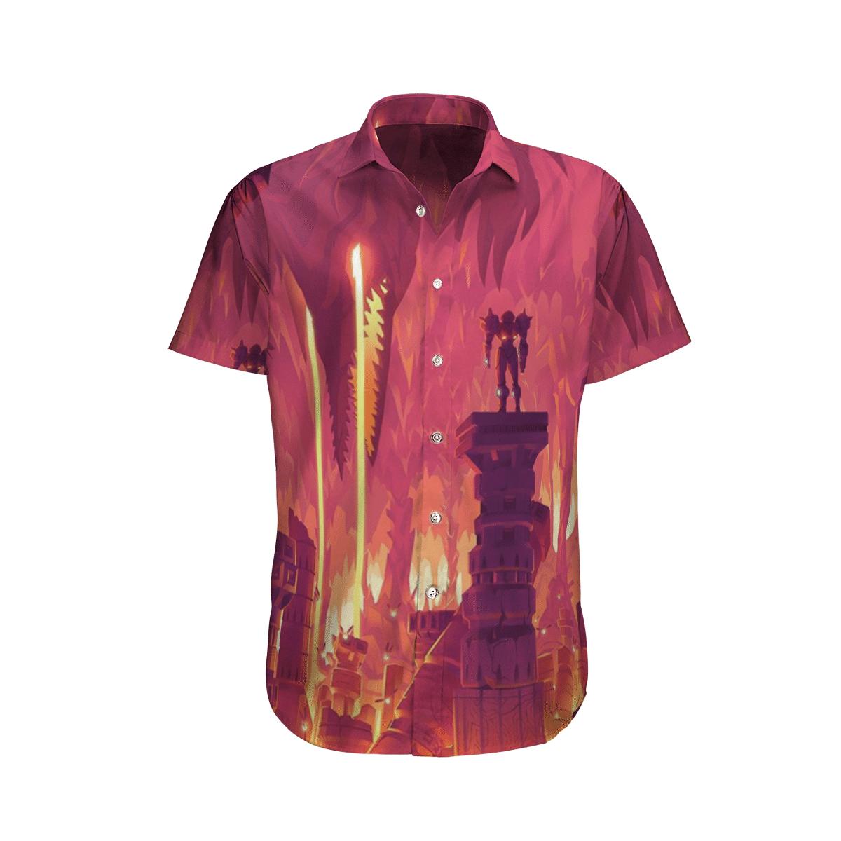 Metroid Prime Red Hawaiian Shirt
