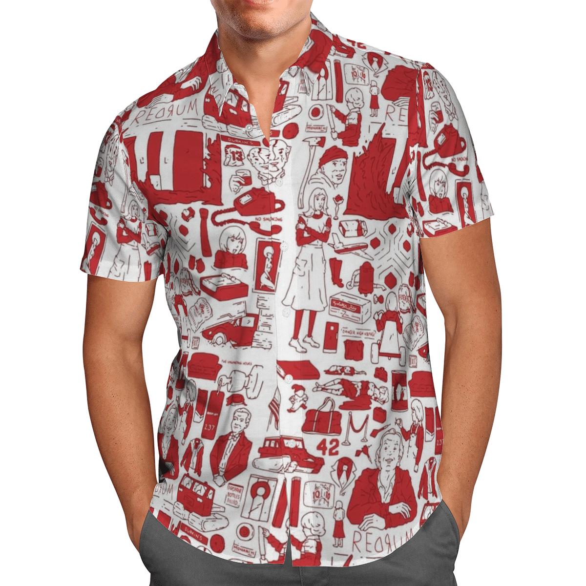 RedruM Hawaiian Shirt Red Pattern