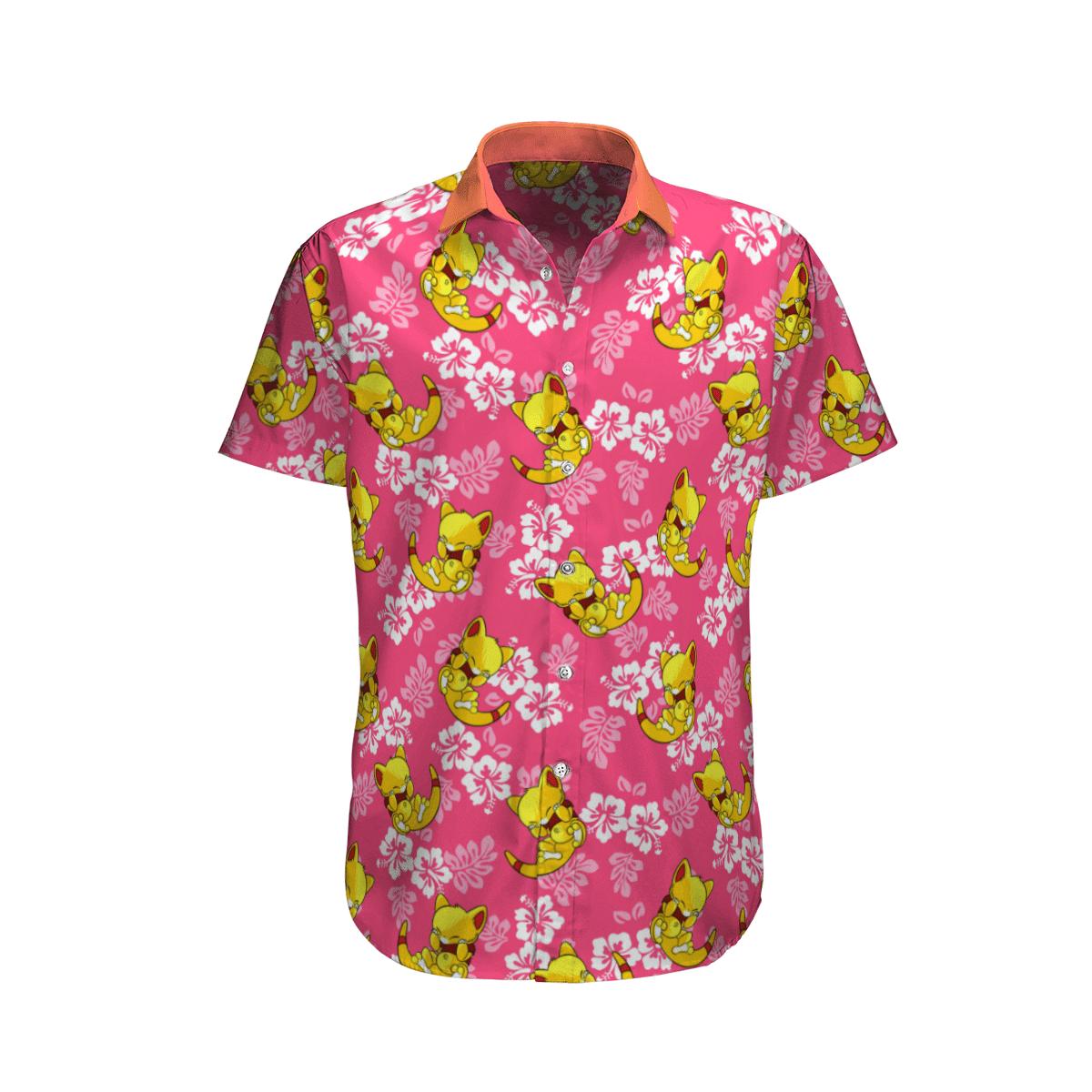 Pokemon Abra Tropical Beach Shirt And Shorts