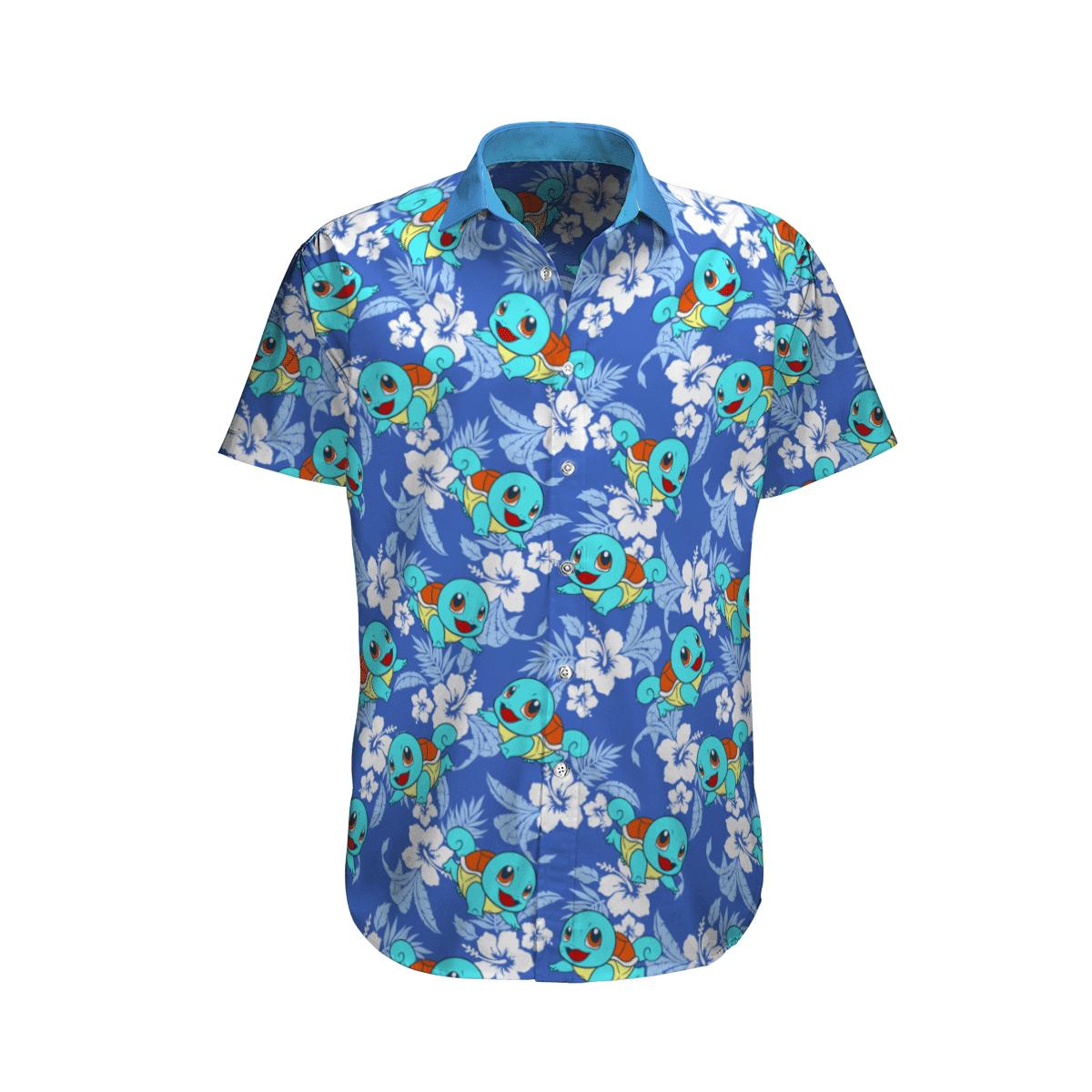 Pokemon Squirtle Tropical Beach Hawaiian Shirt And Shorts