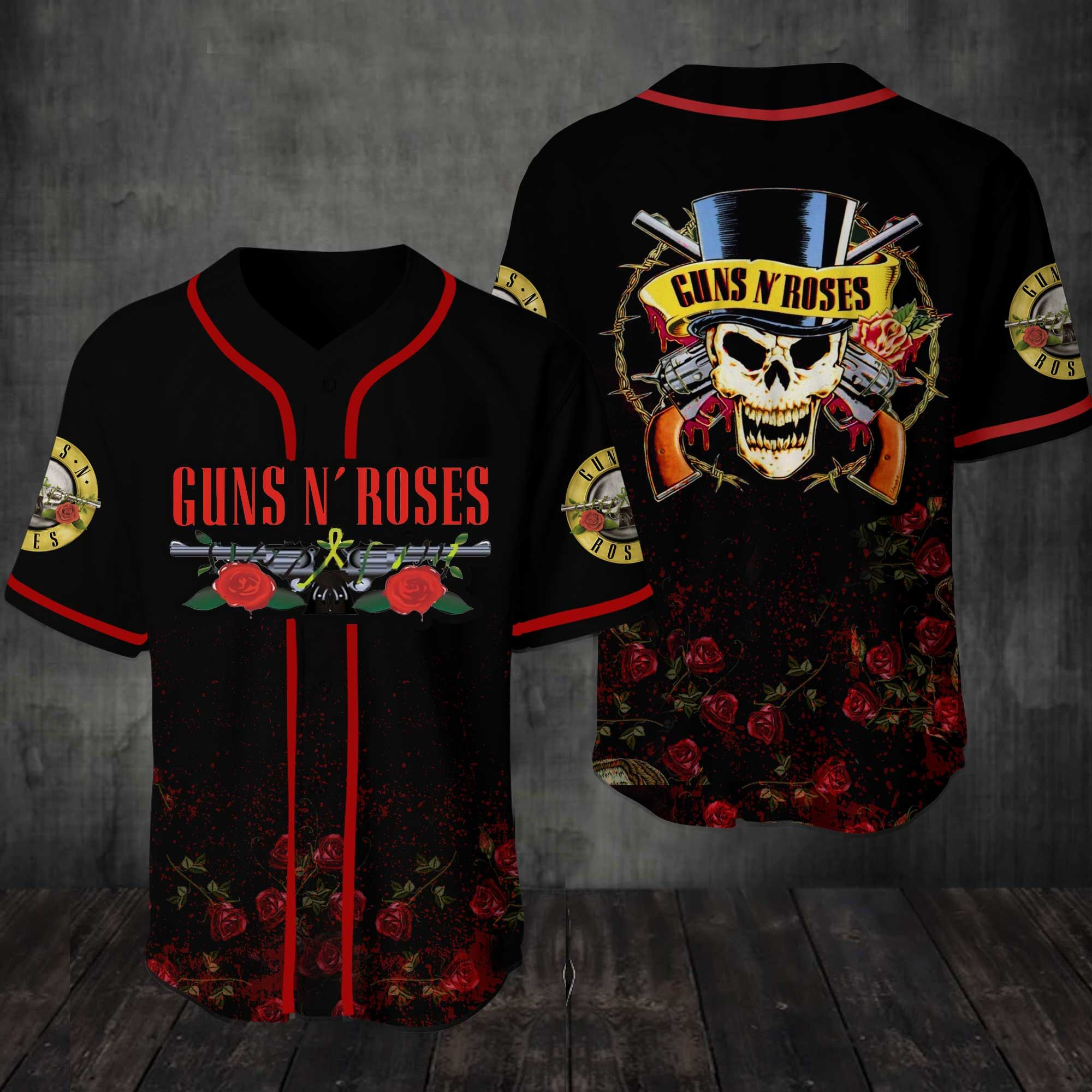 Guns N Roses Baseball Jersey Shirt