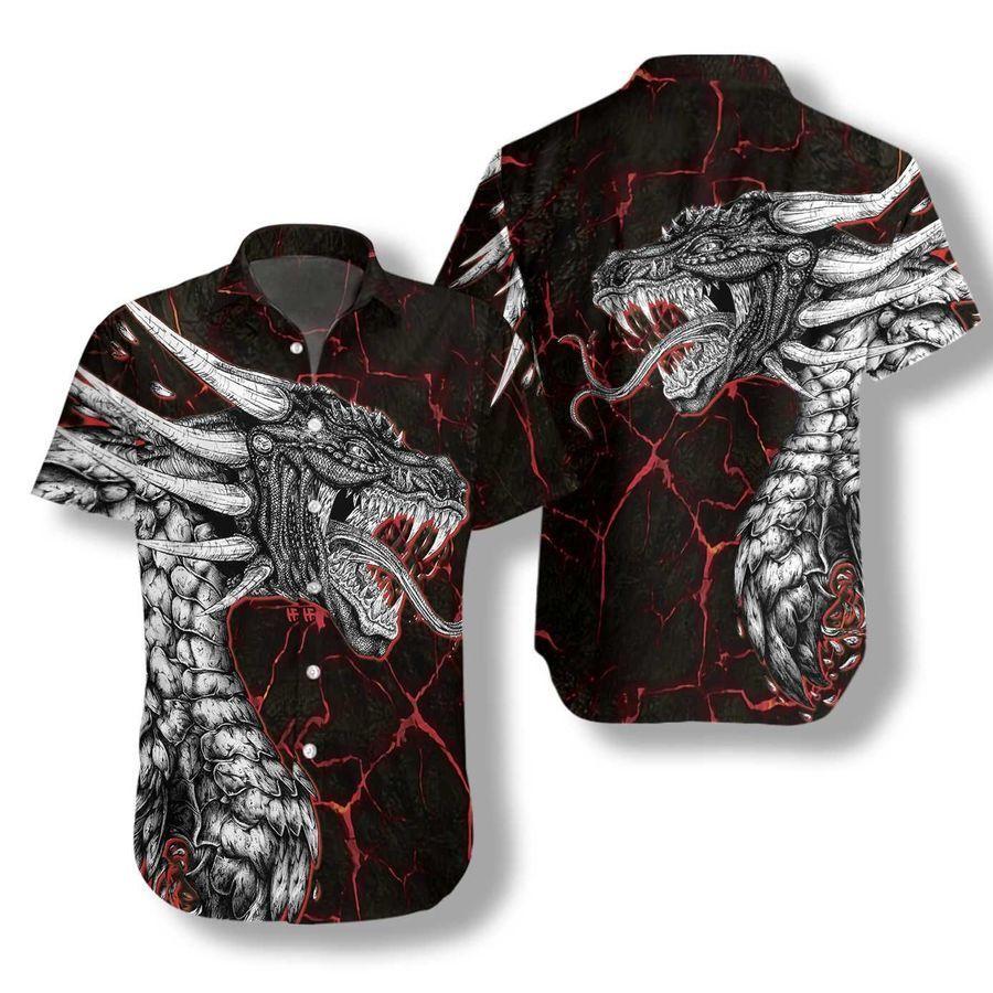 Great Mighty Dragon Black Hawaiian Shirt