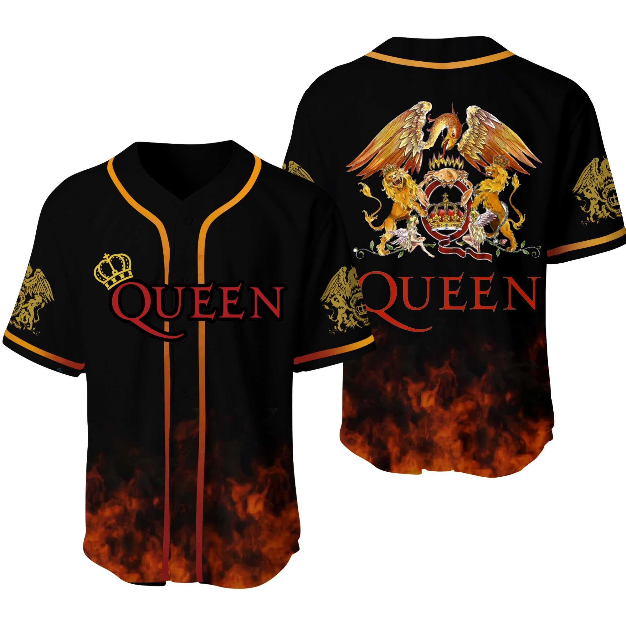 Queen Band With Logo Baseball Jersey Shirt