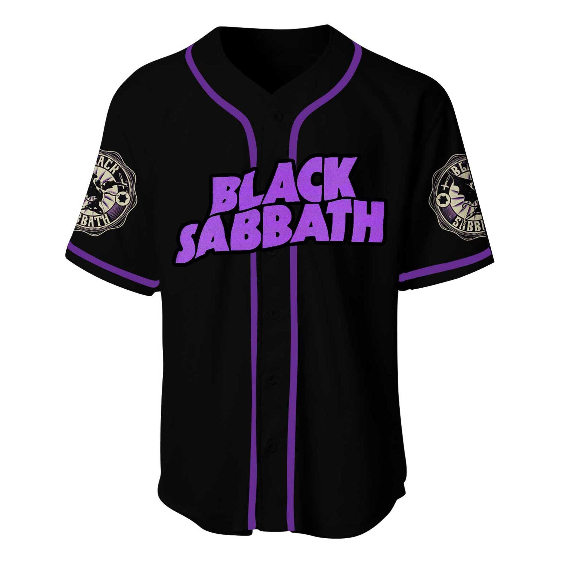 Black Sabbath Baseball Jersey Shirt