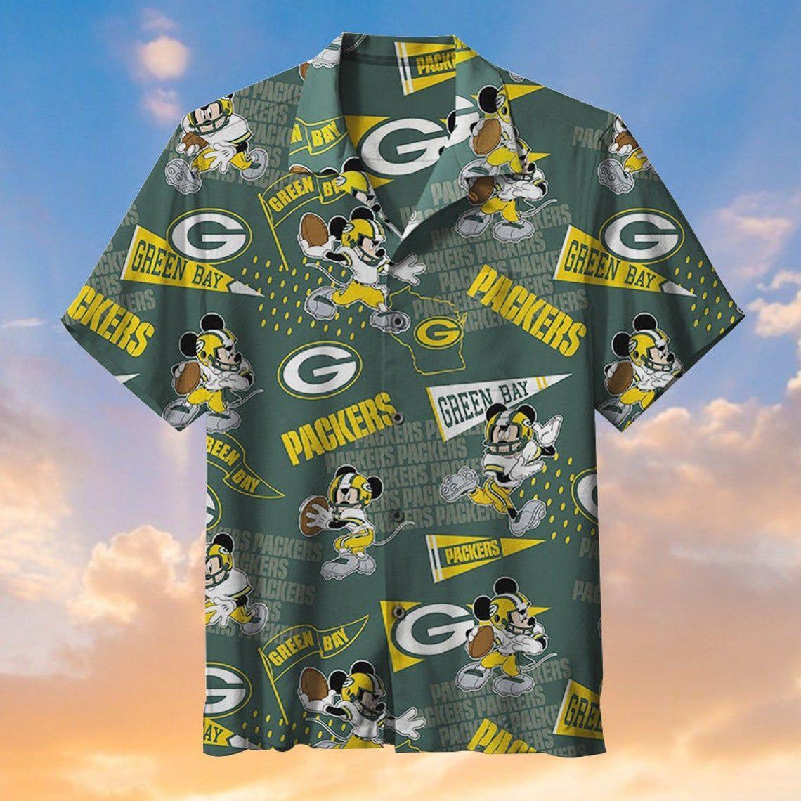 Green Bay Packers Mickey Hawaiian Shirt NFL