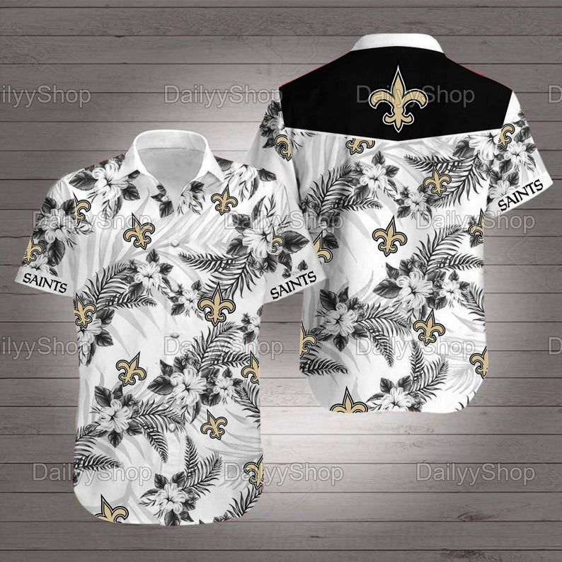New Orleans Saints Hawaiian NFL Nashville Tennessee Hawaii Floral Football Shirt