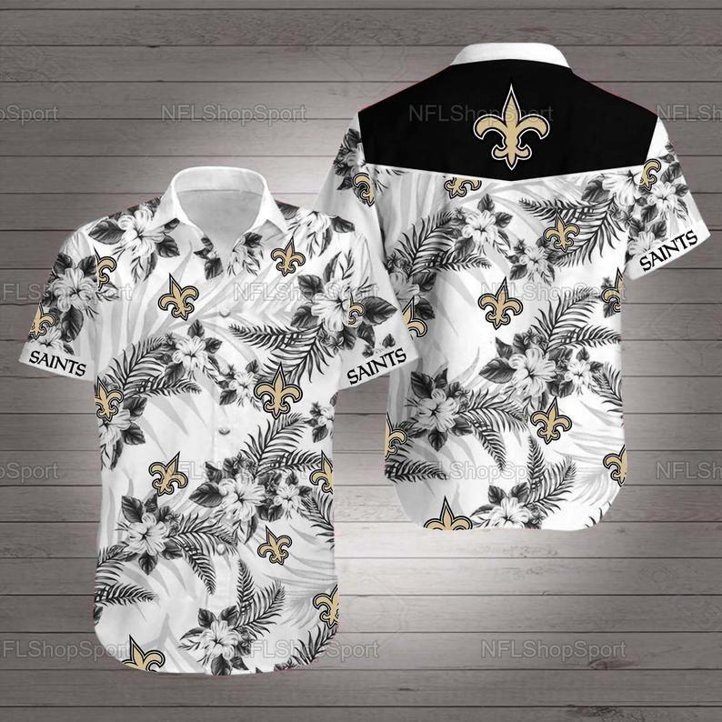 New Orlean Saints Hawaiian Mandala Shirt