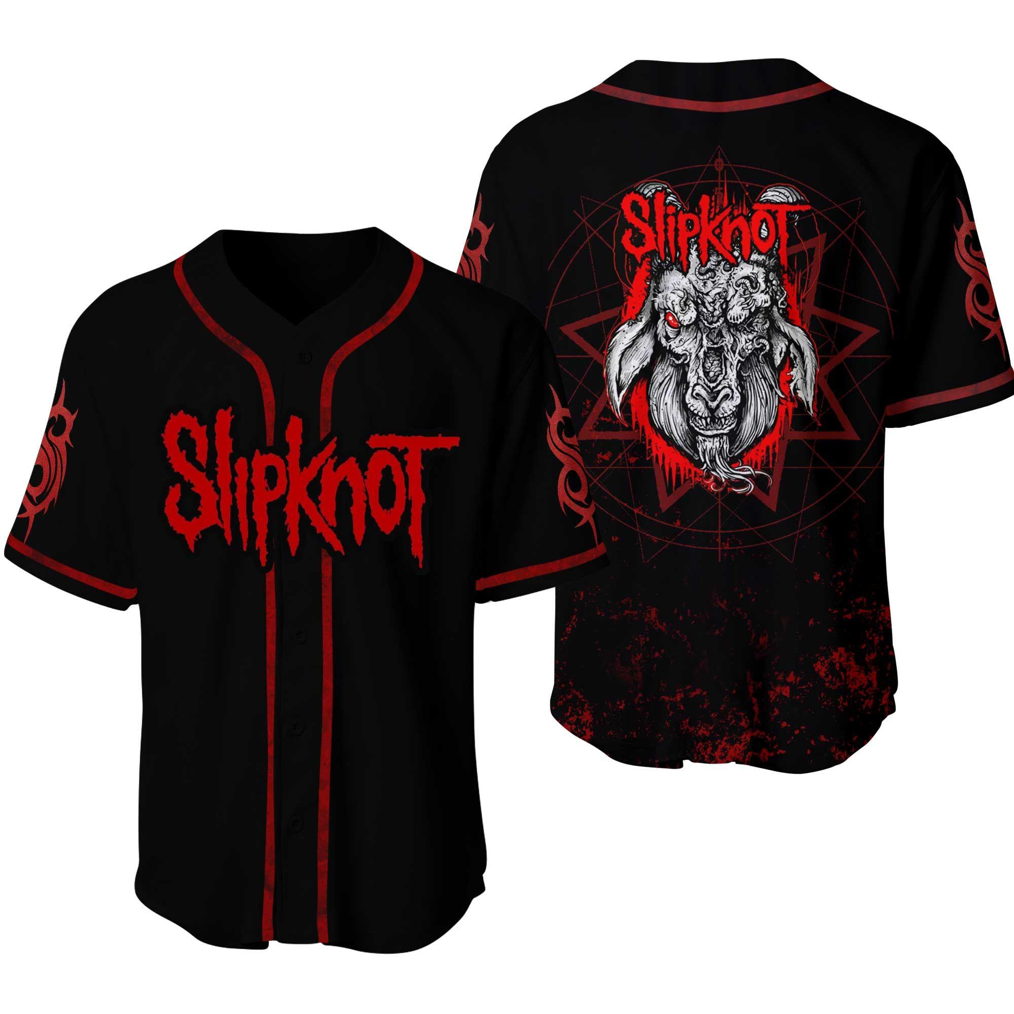 Slipknot Goat face American heavy metal band Baseball Jersey Shirt
