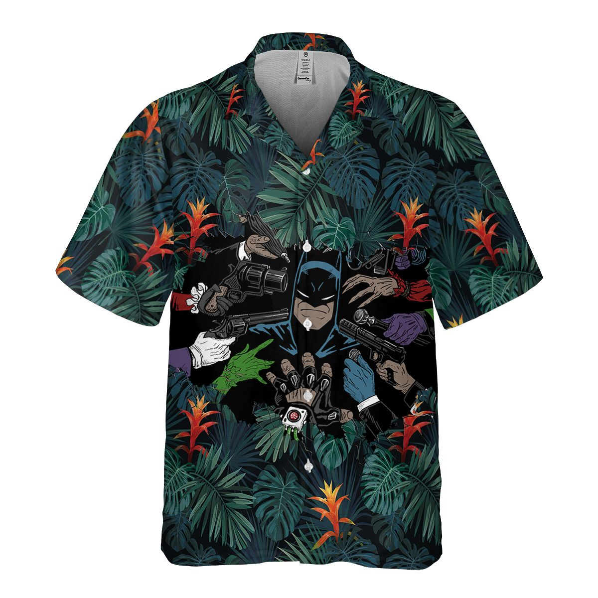 Batman and villain Hawaiian Shirt Summer Shirt