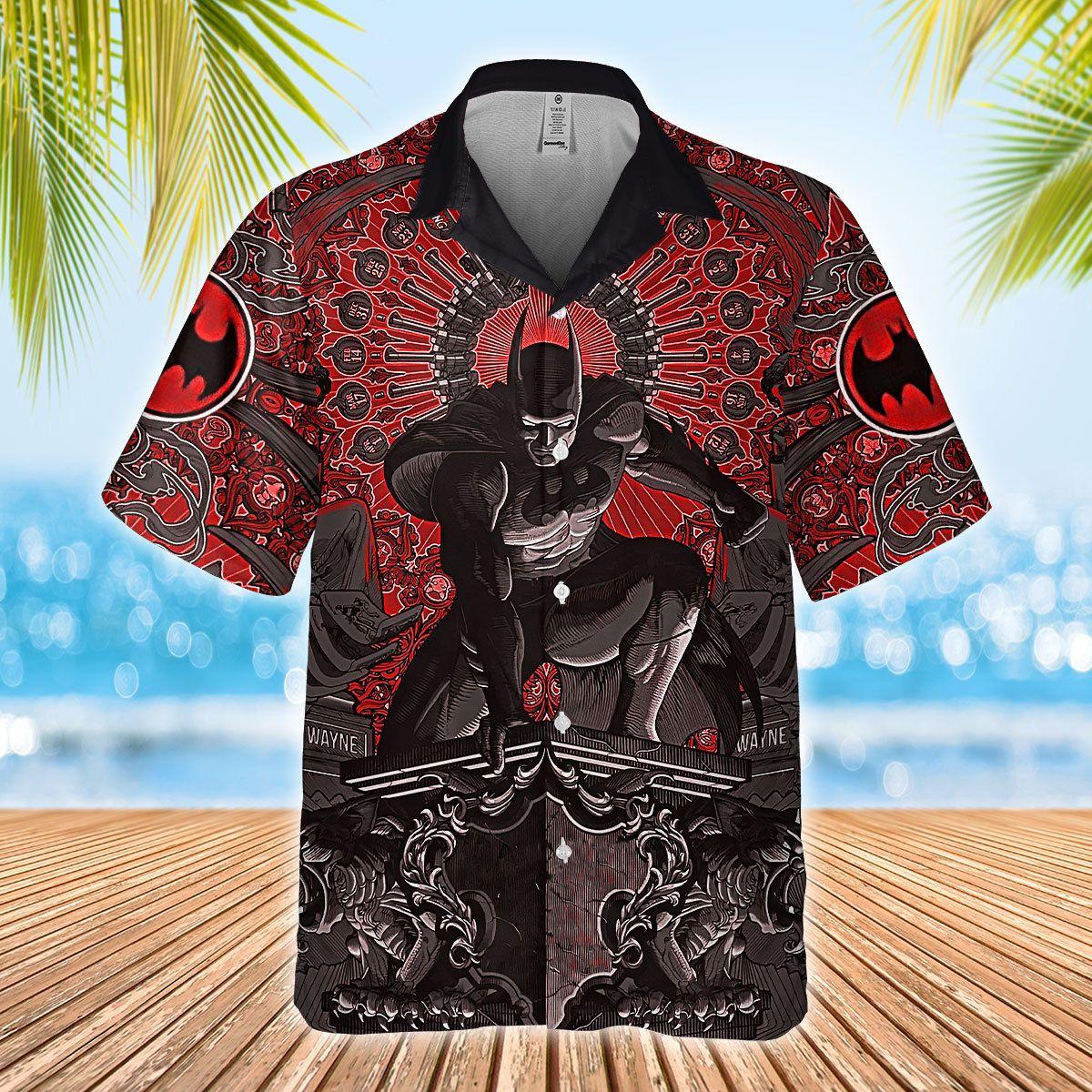 Batman Bruce Wayne Statue Hawaiian Shirt