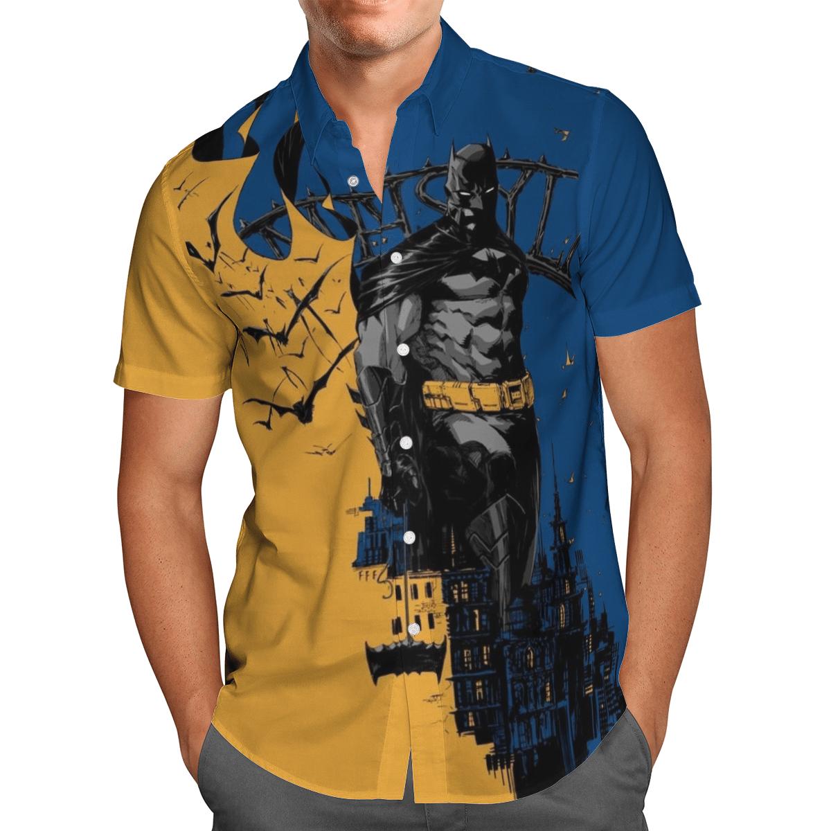Dark Knight in the City Hawaiian Shirt