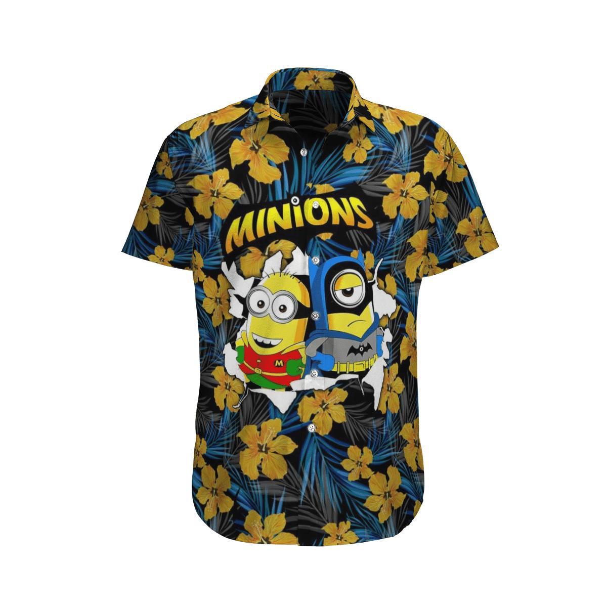 Minions couple Batman and Robin Hawaiian Shirt Summer Shirt