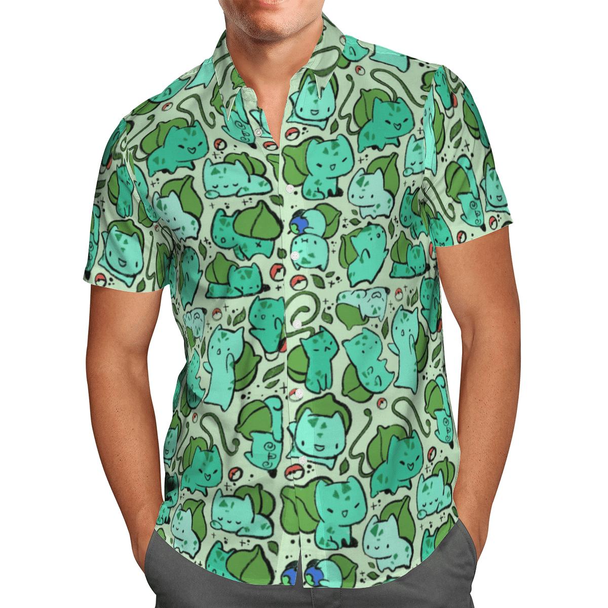 Pokemon Bulbasaur Hawaiian Shirt